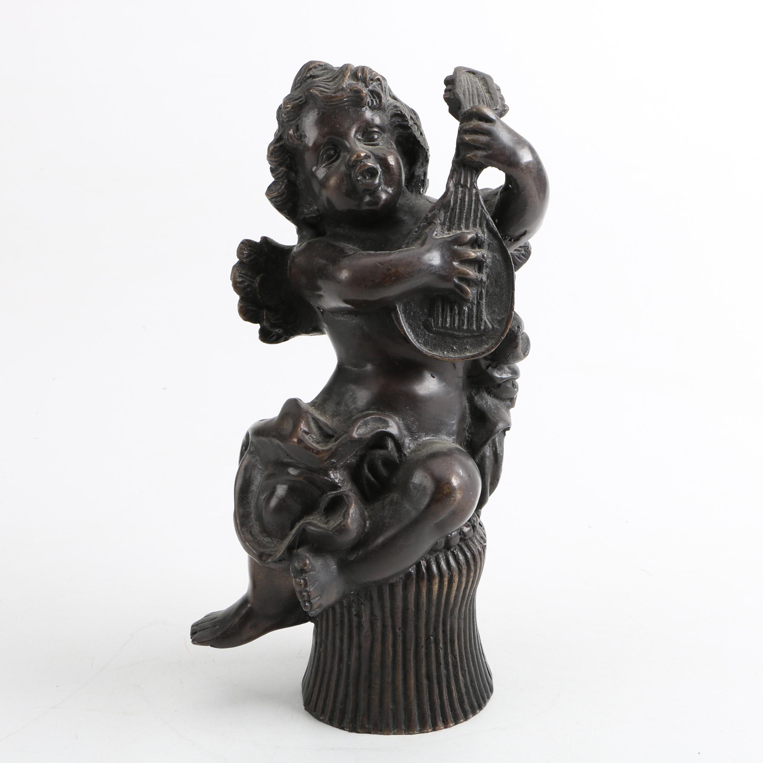 Metal Cherub Figurine