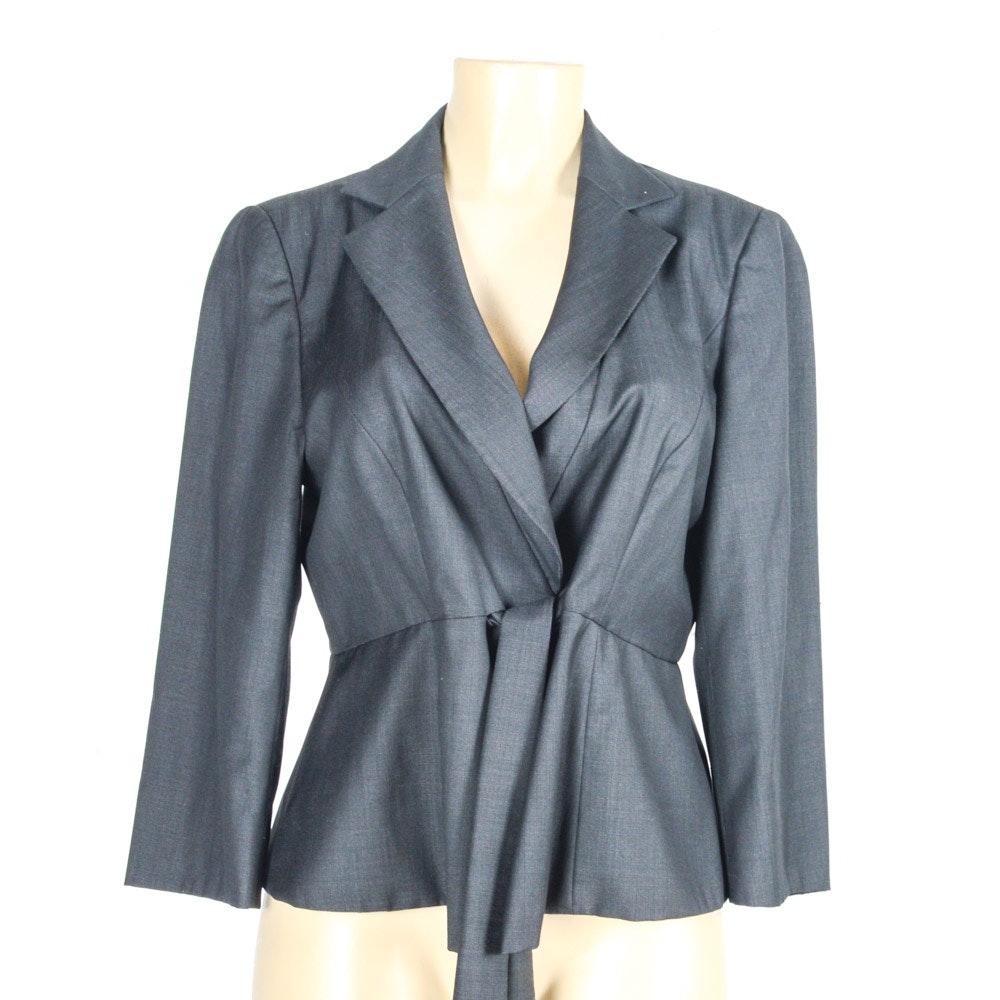 Armani Collezioni Tie Front Blazer