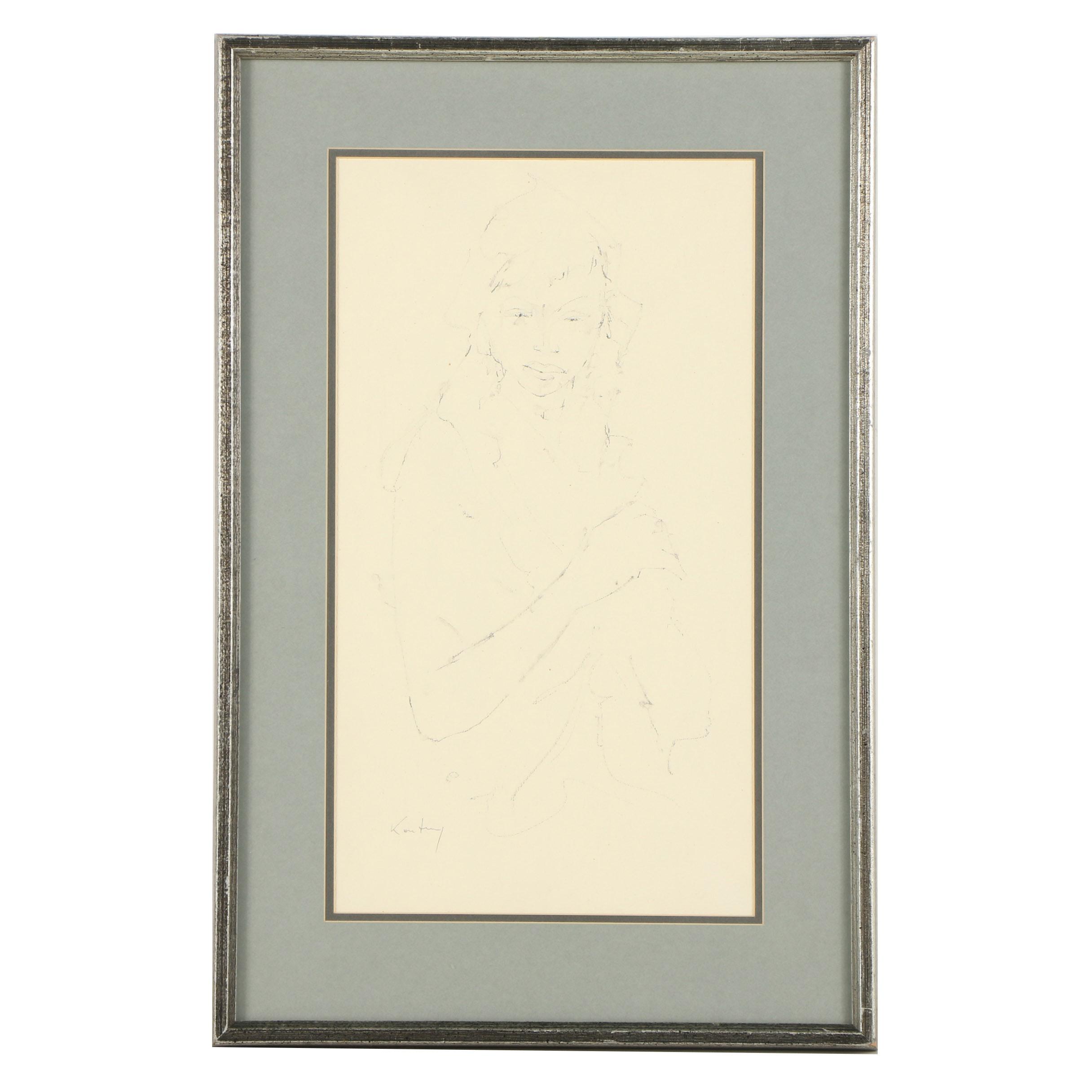 Pawl Kontny Graphite Figure Drawing