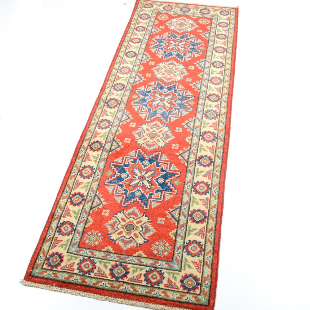 Fine Hand Knotted Afghani Caucasian Runner