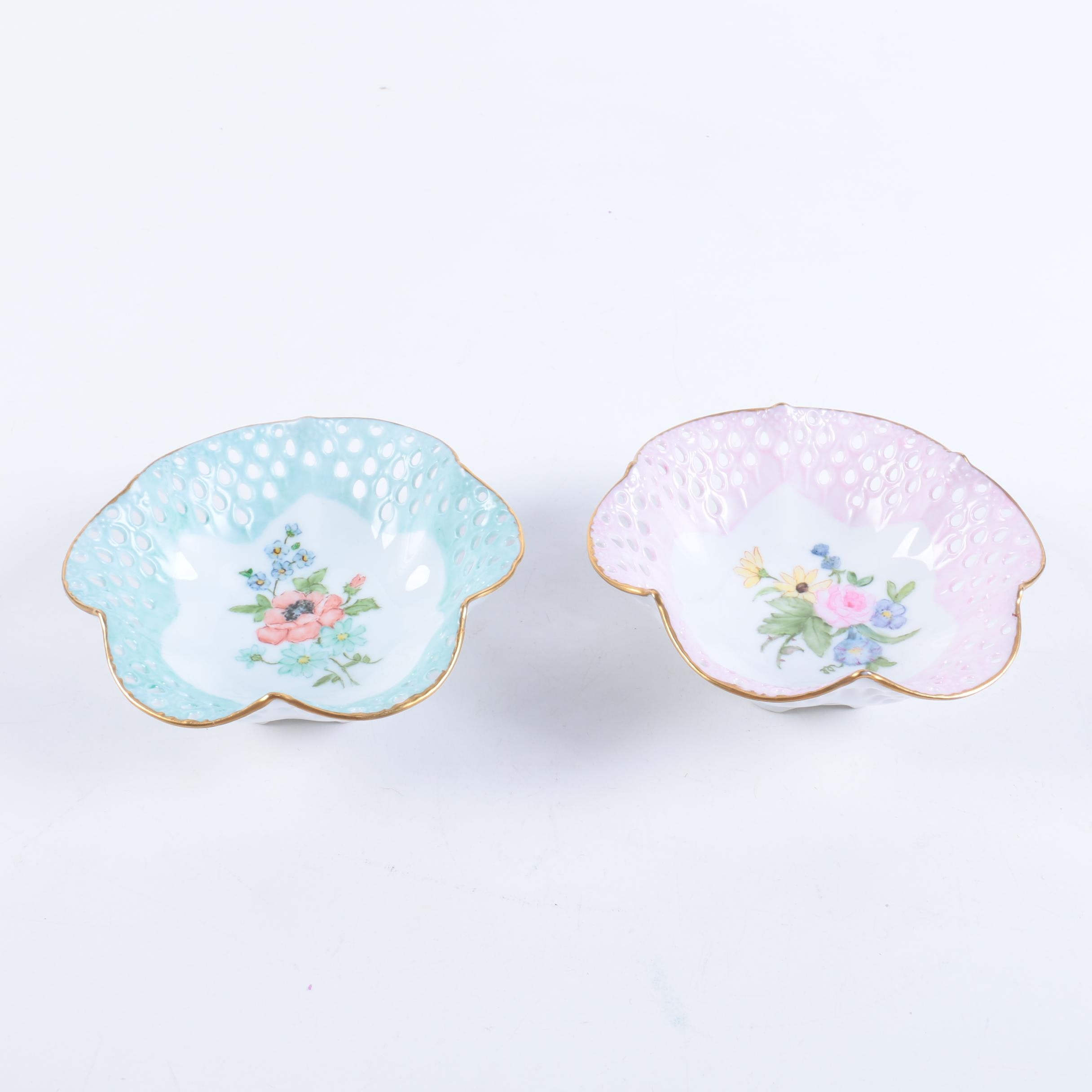 Hobbyist Hand-Painted Porcelain Bowls