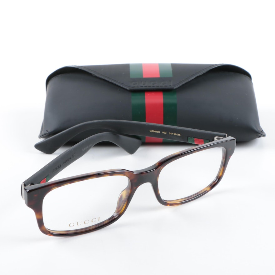 62116630805 Gucci Horn-Rimmed Style Eyeglasses   EBTH