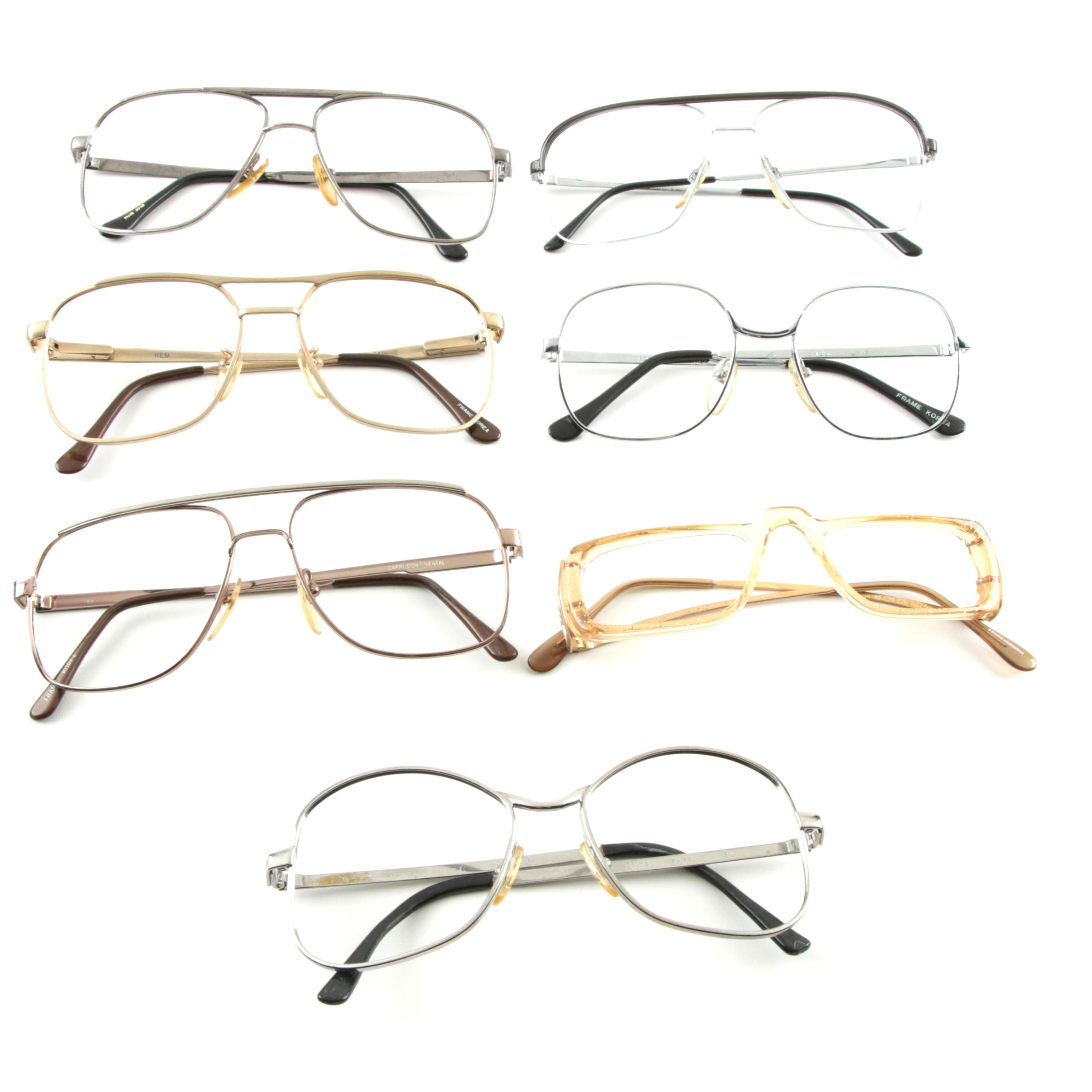 Vintage Eyeglasses, Including Aviators