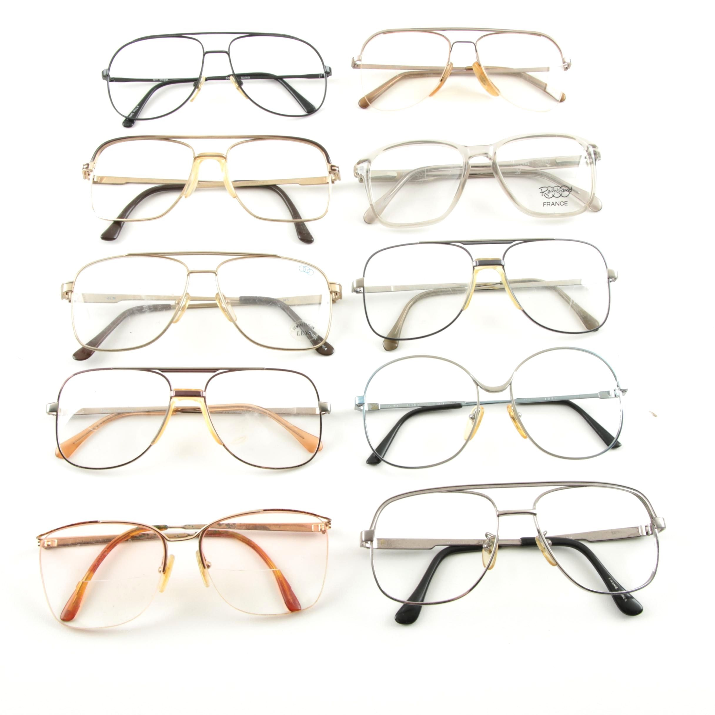 Vintage Eyeglasses, Including Rembrand France