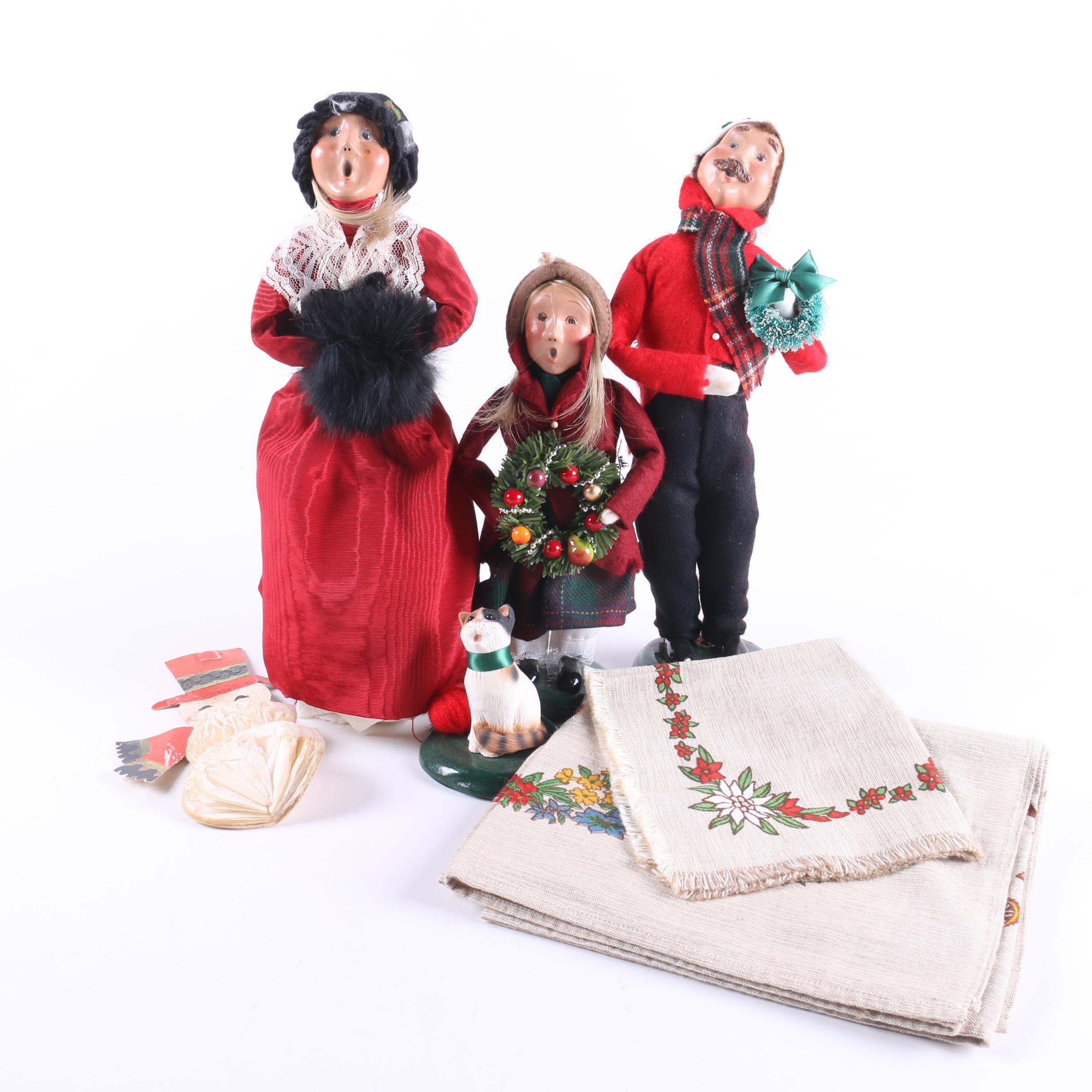 Byers Christmas Carolers and Decor