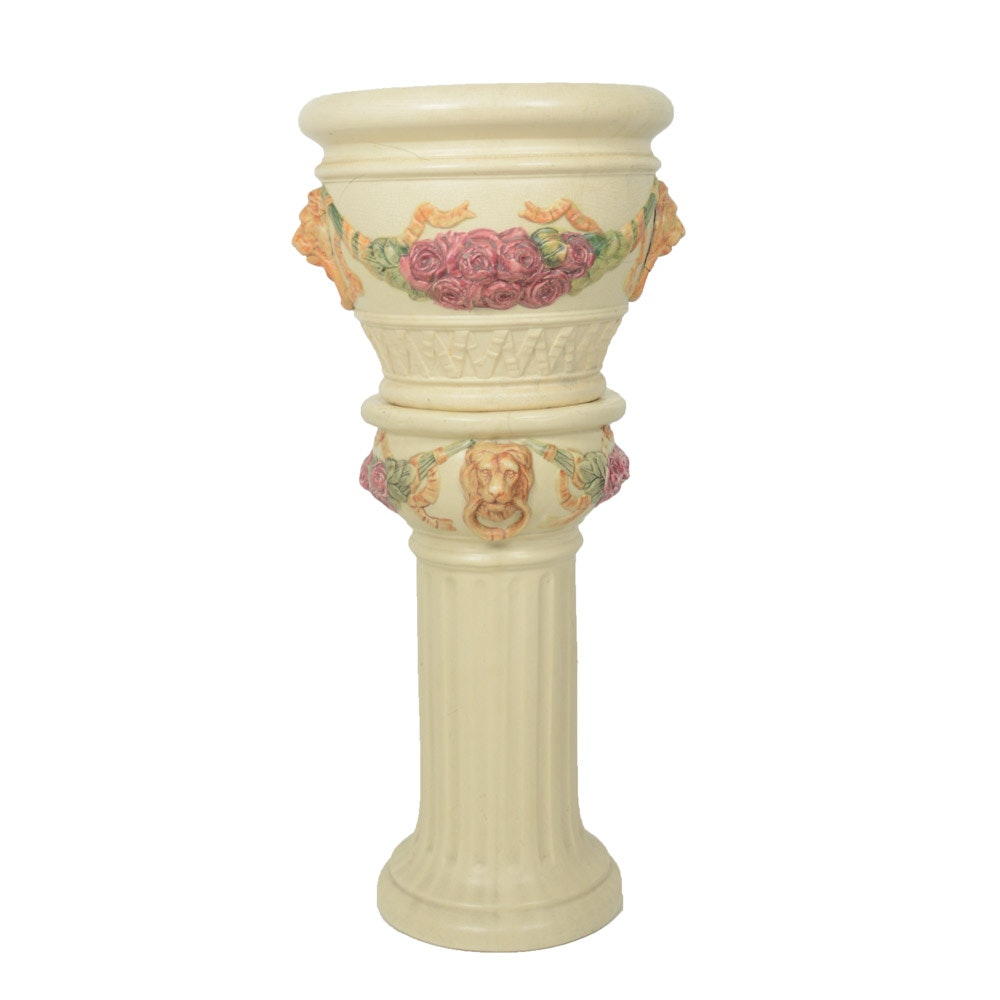 """1920s Weller Pottery """"Roma"""" Jardinière with Stand"""