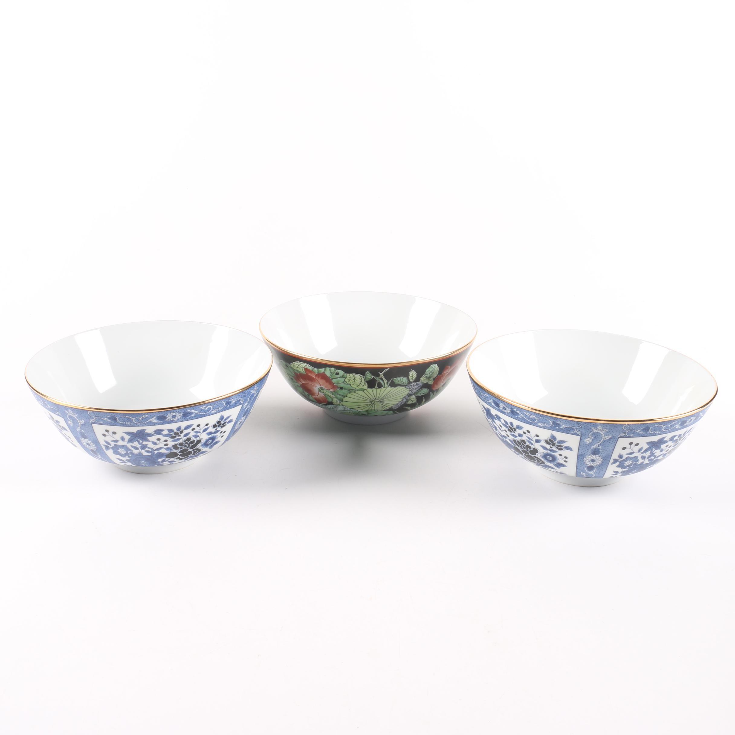 Gump's Japanese Porcelain Soup Bowls