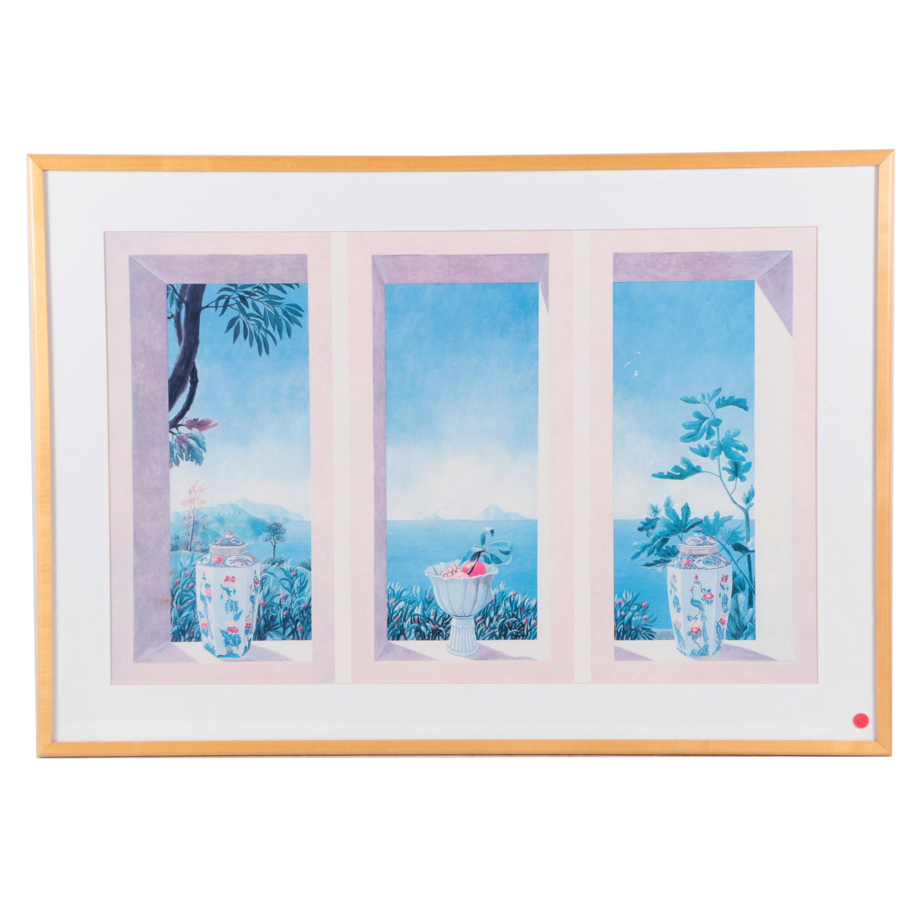 Offset Lithograph on Paper of Scenic View