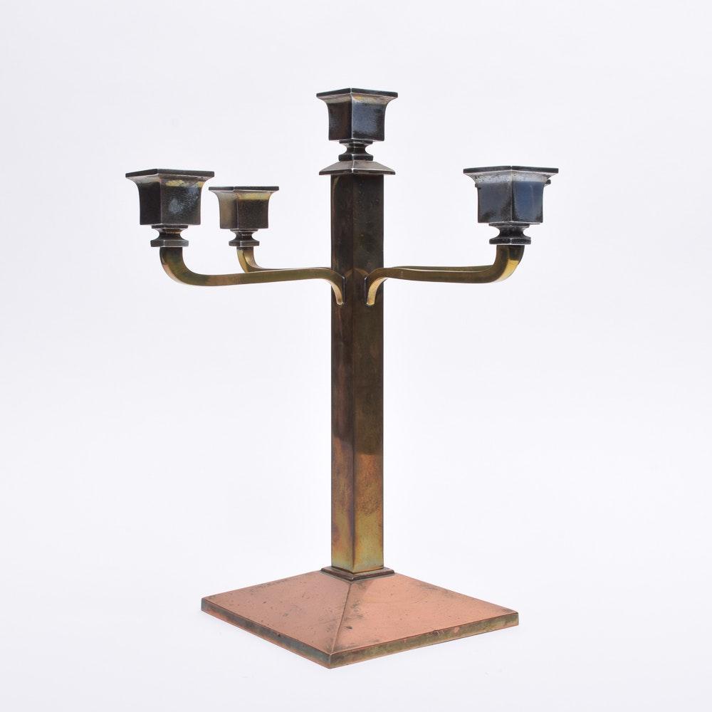 B & H Copper and Brass Candelabra