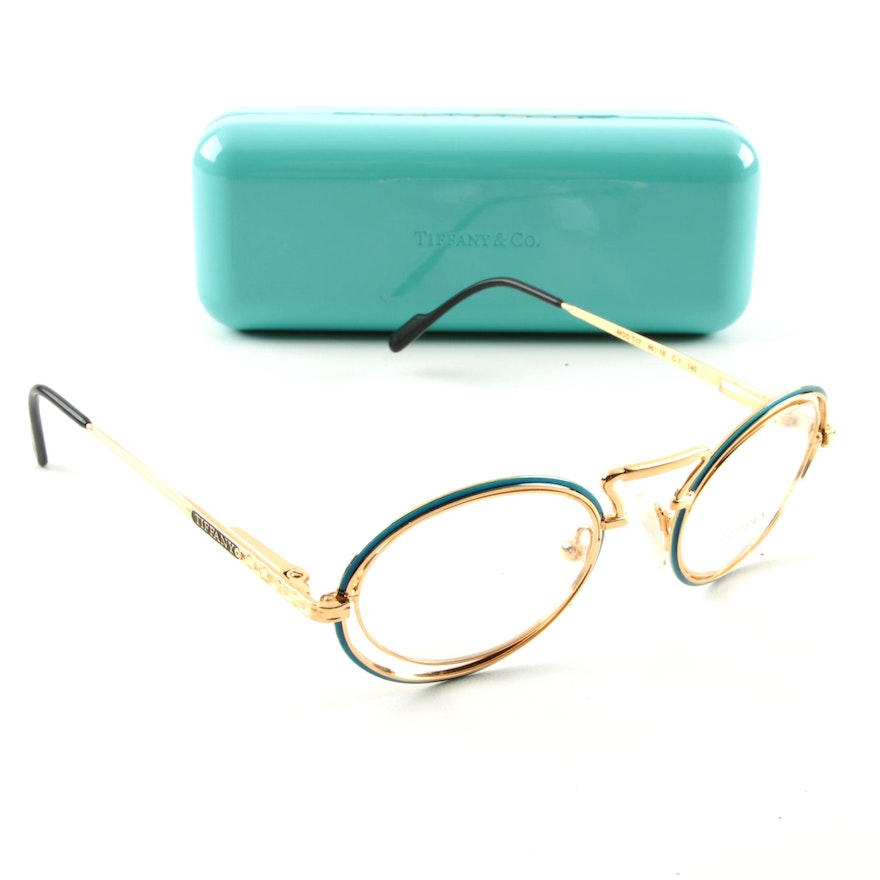 Tiffany & Co. 23K Gold Plated Eyeglass Frames : EBTH