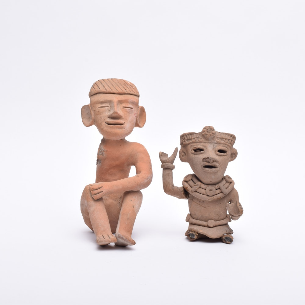 Vintage Clay Figures From Cancun