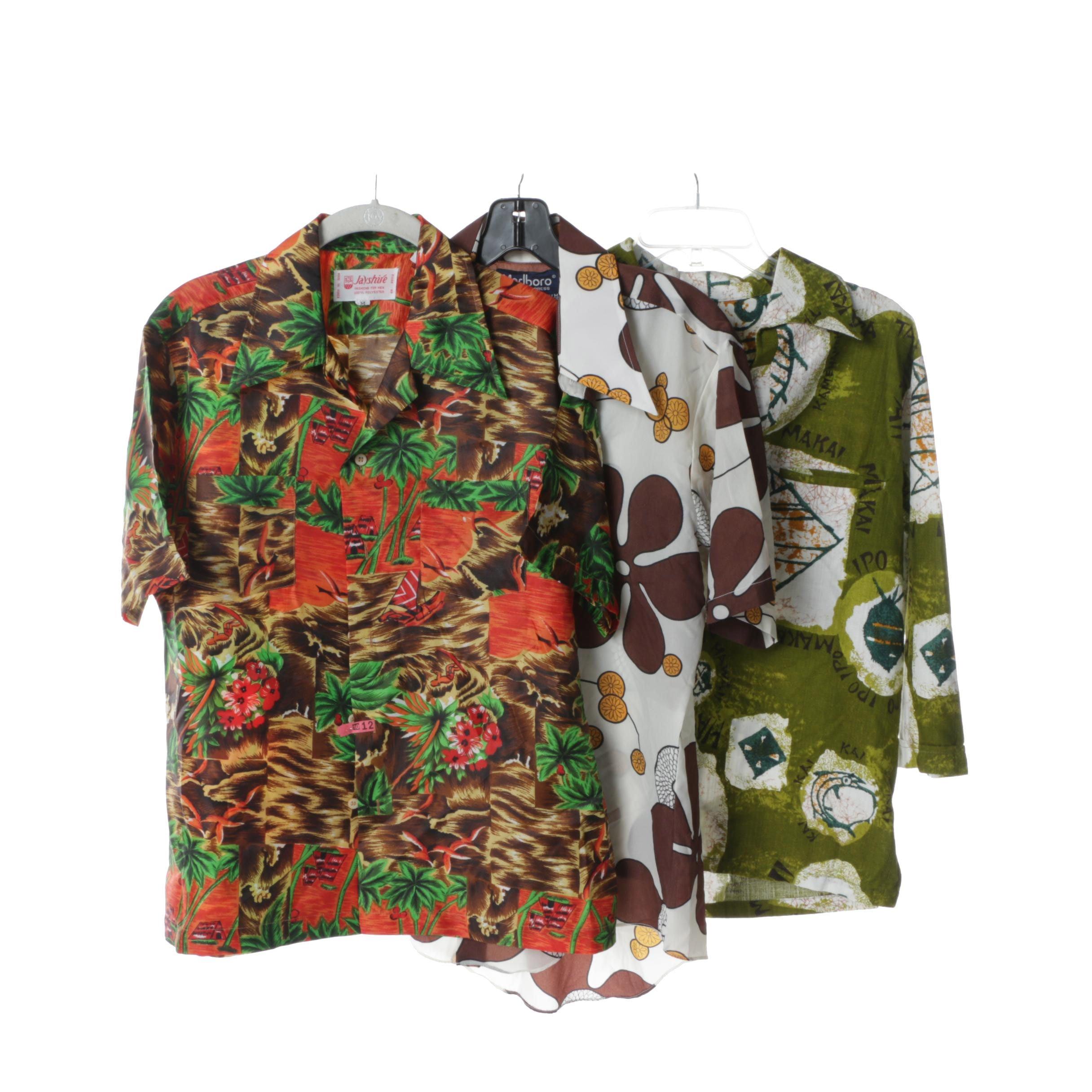 Men's Vintage Hawaiian Shirts Including Jayshire