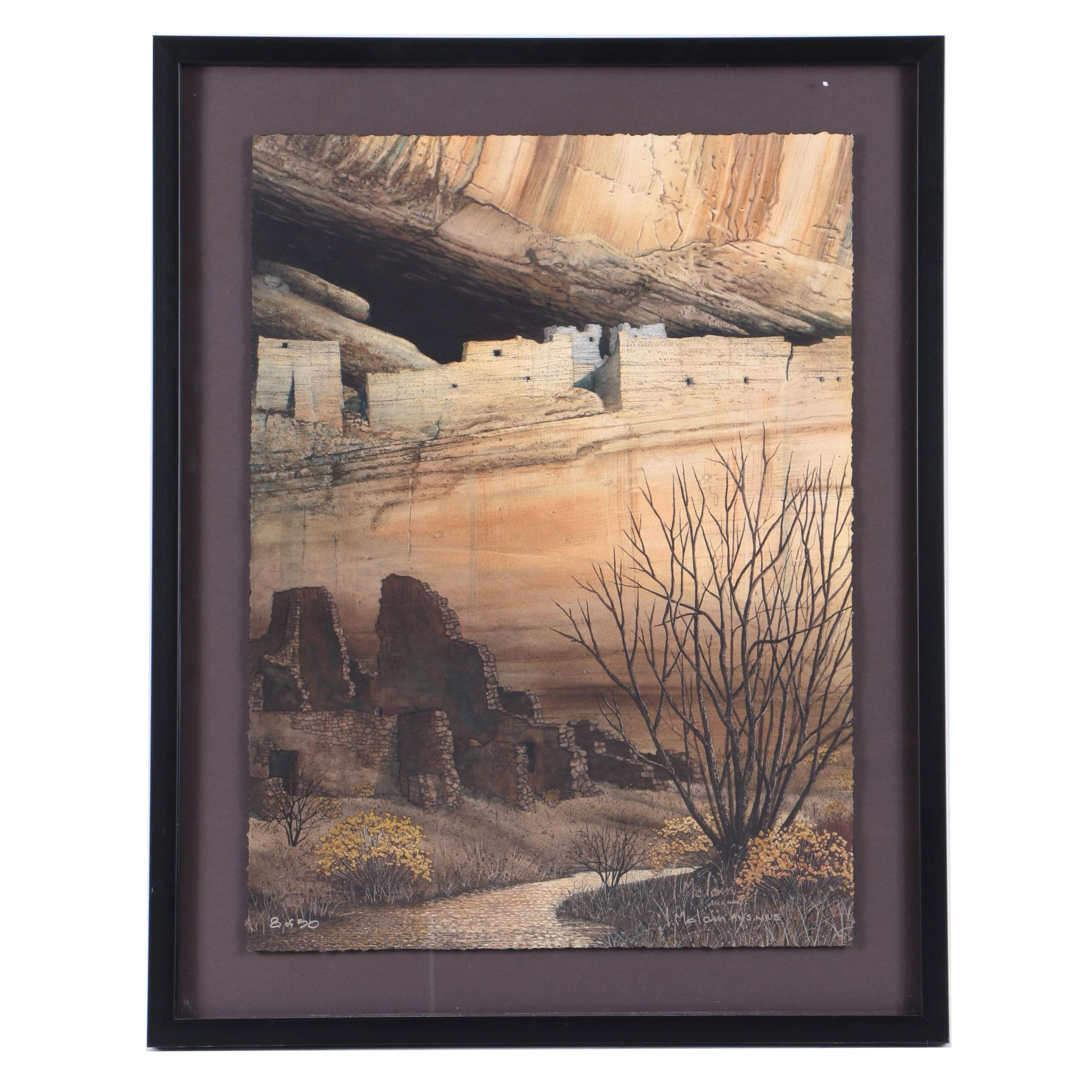 """Lynn McLain Limited Edition Giclee on Paper """"Ancient White House"""""""