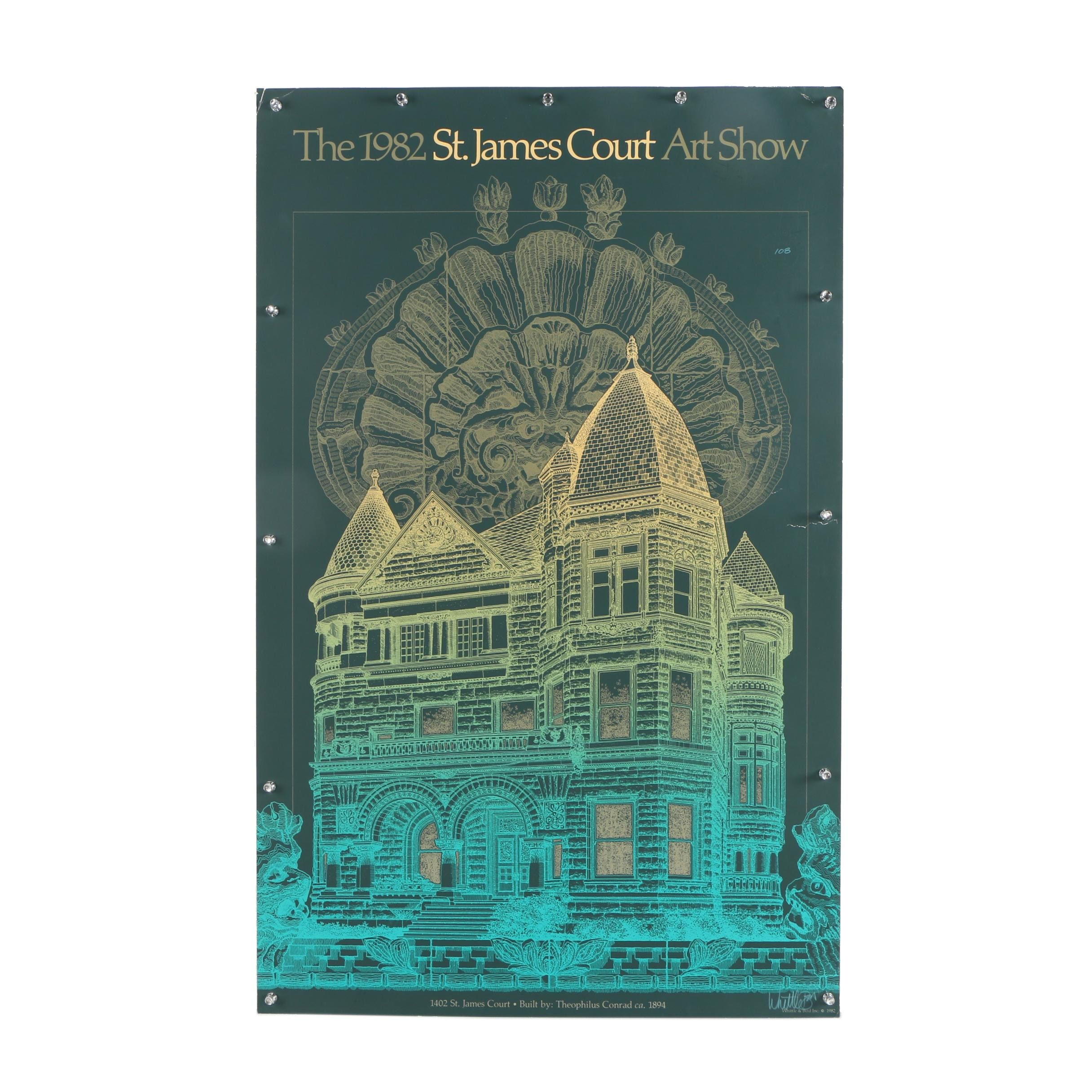 "Serigraph Poster ""The 1982 St. James Court Art Show"""