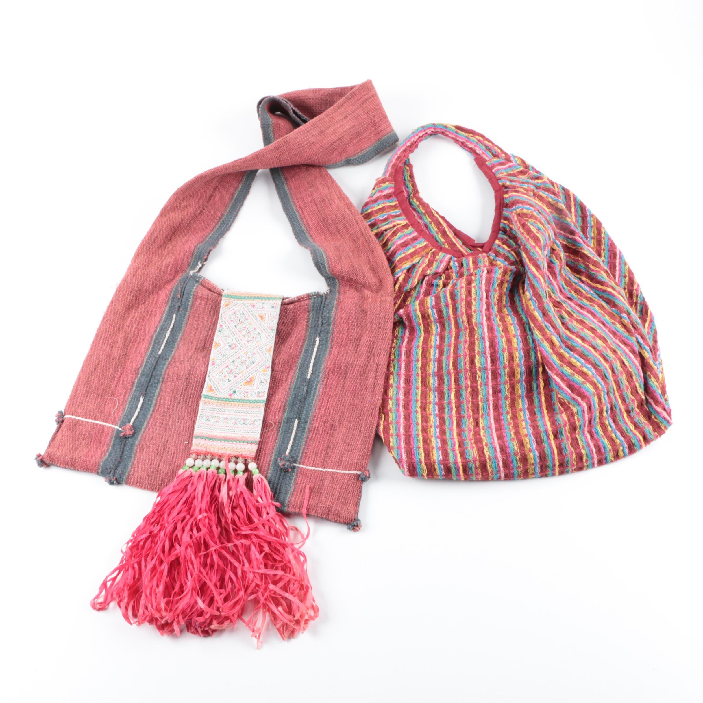Textile Shoulder Bag and Tote