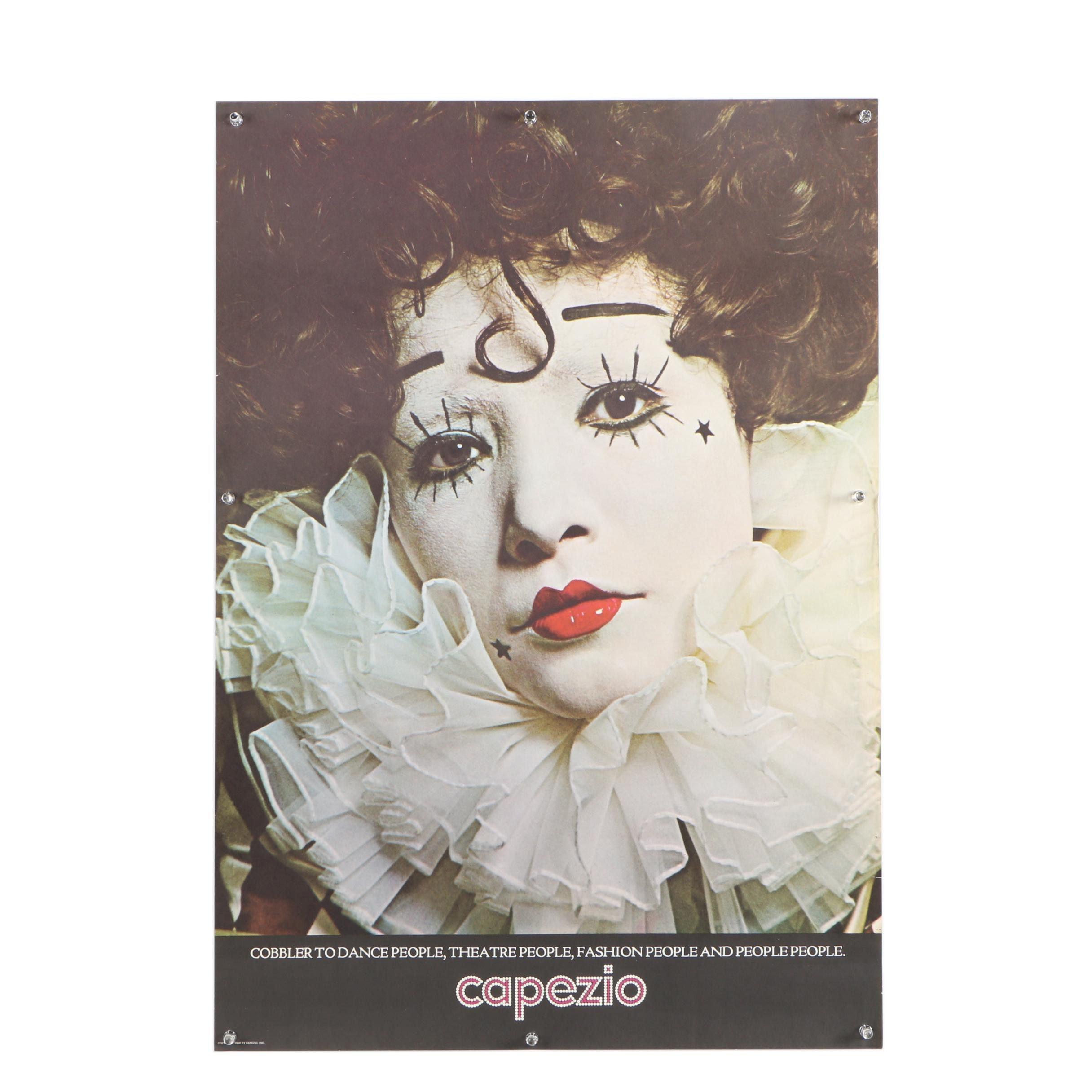 """Vintage Offset Lithograph Poster """"Capezio"""""""