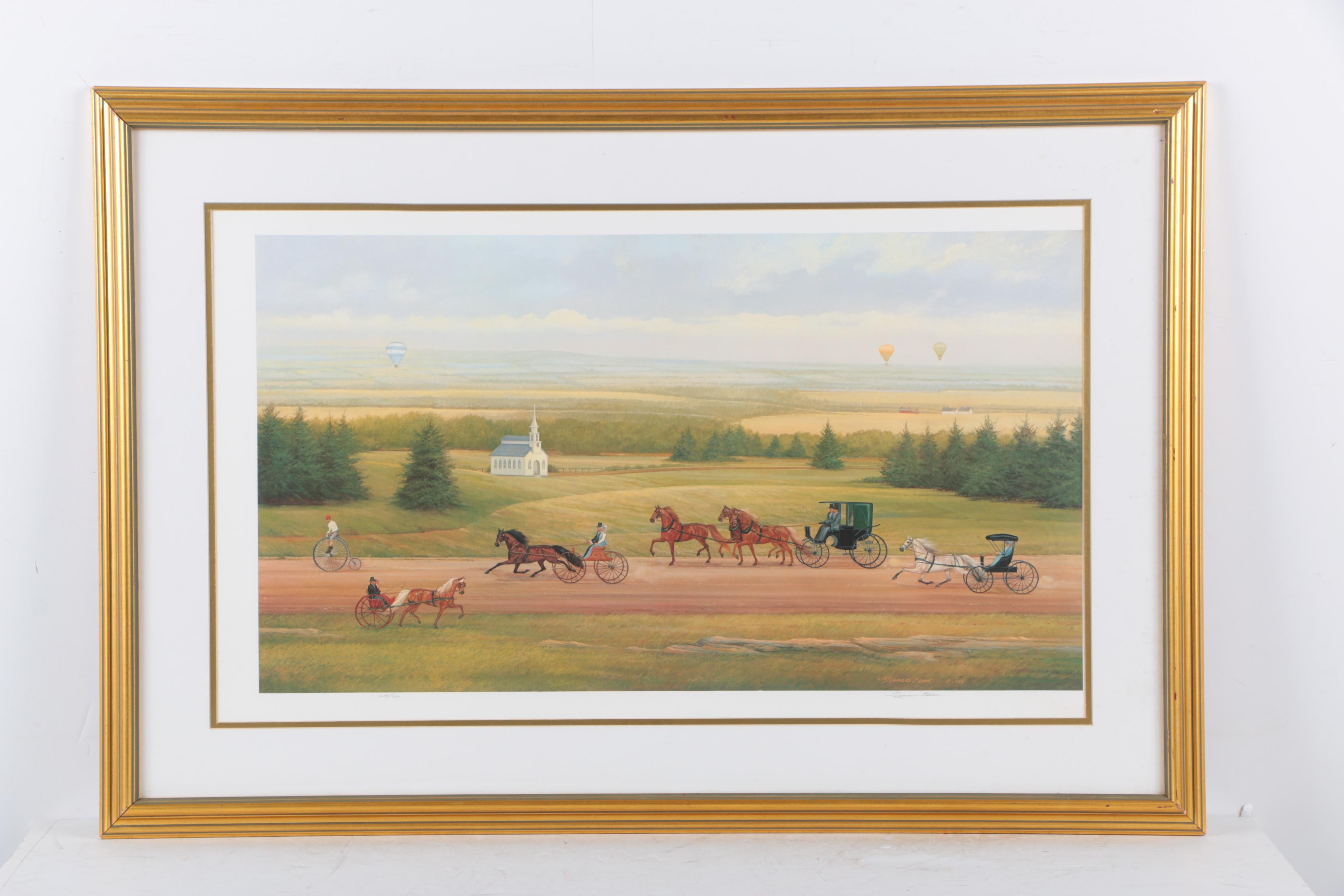 """Judith Zimmers Blinn Limited Edition Offset Lithograph """"A Sunday Drive"""""""