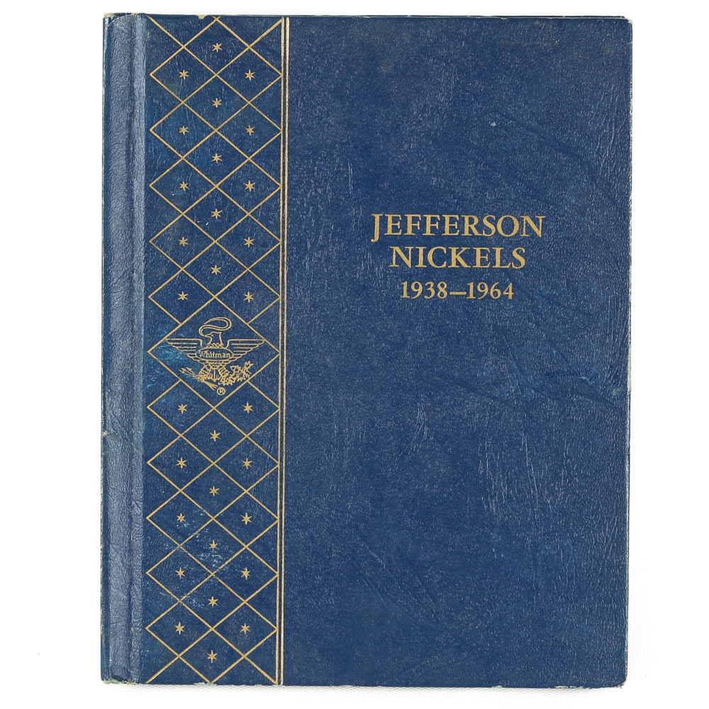 Whitman Folder of Jefferson Nickels 1938-1964