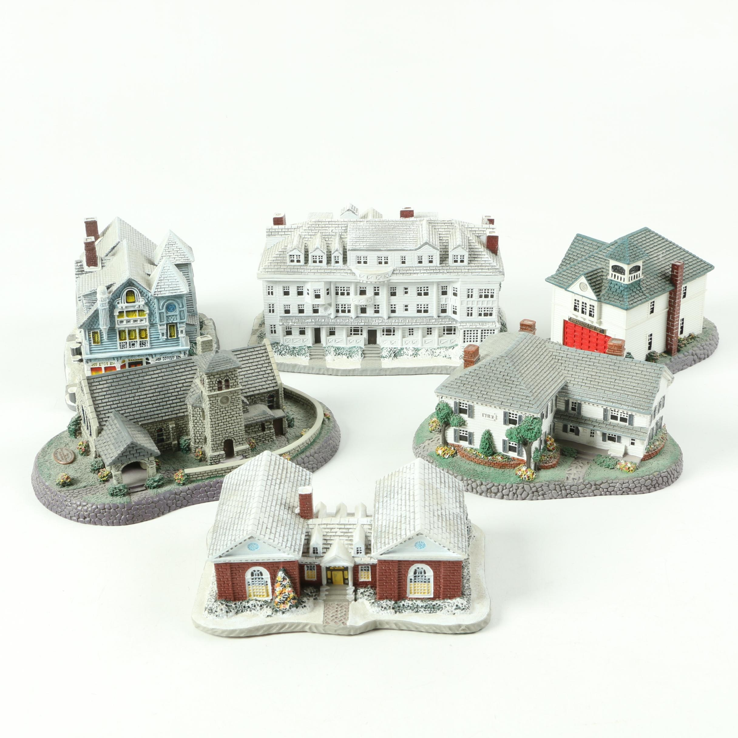 Limited Edition Rhodes Studios Norman Rockwell Village Figurines