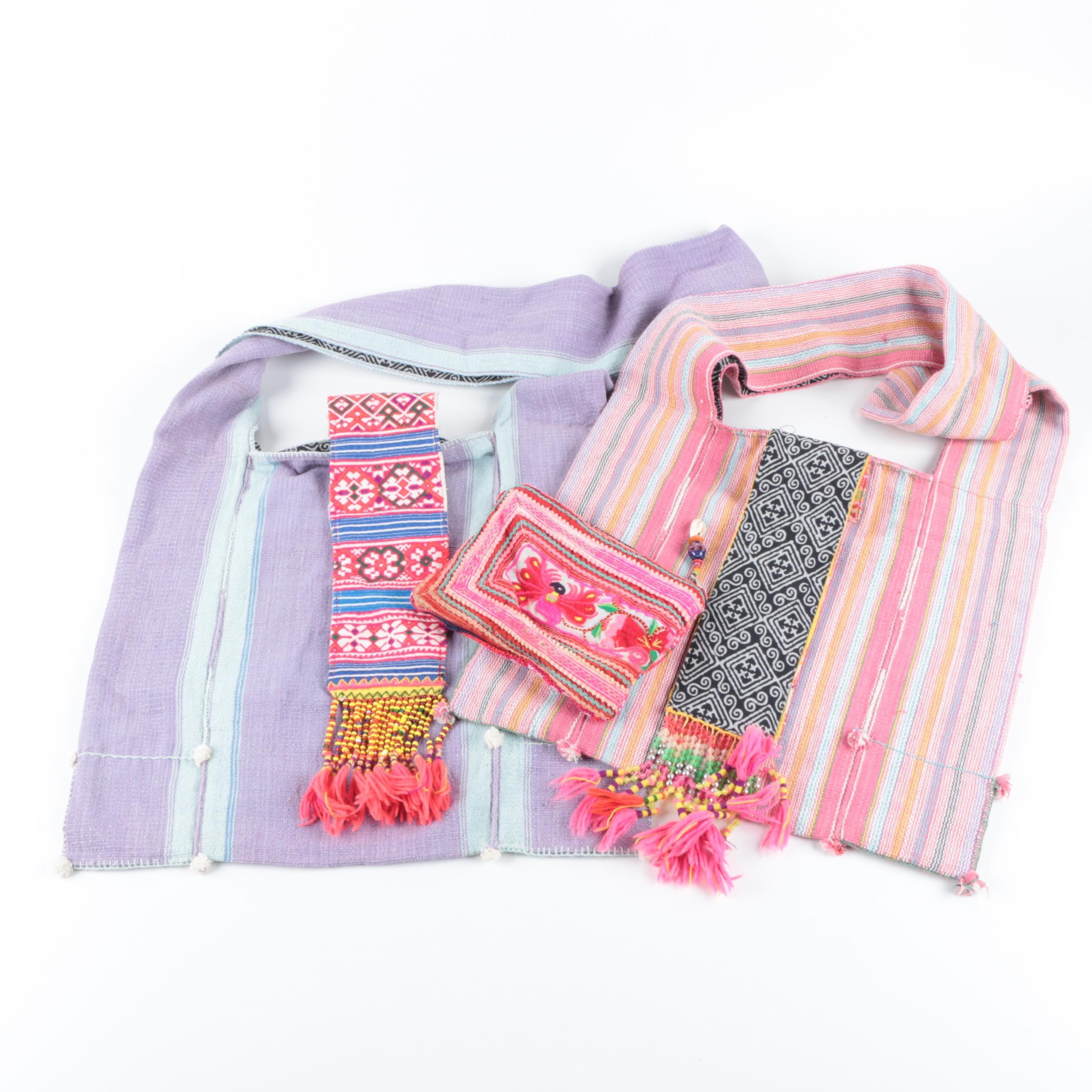 Kulshi Woven Handbag and Pouch