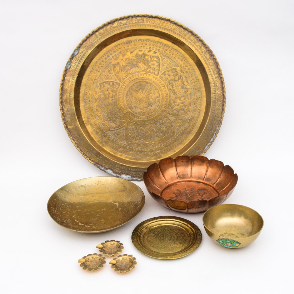 Brass and Copper Decorative Dishes