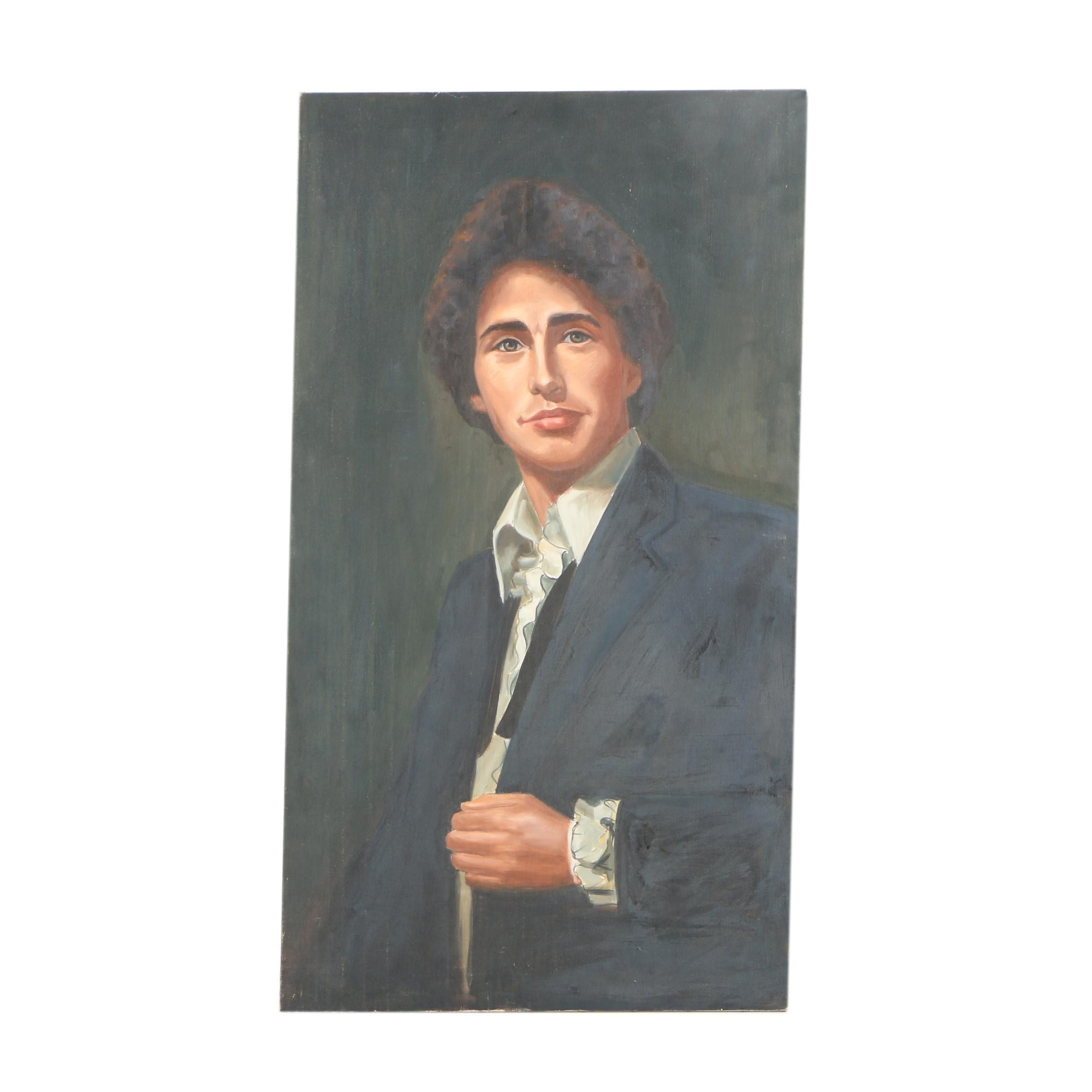 Oil Painting Portrait of Confident Young Man