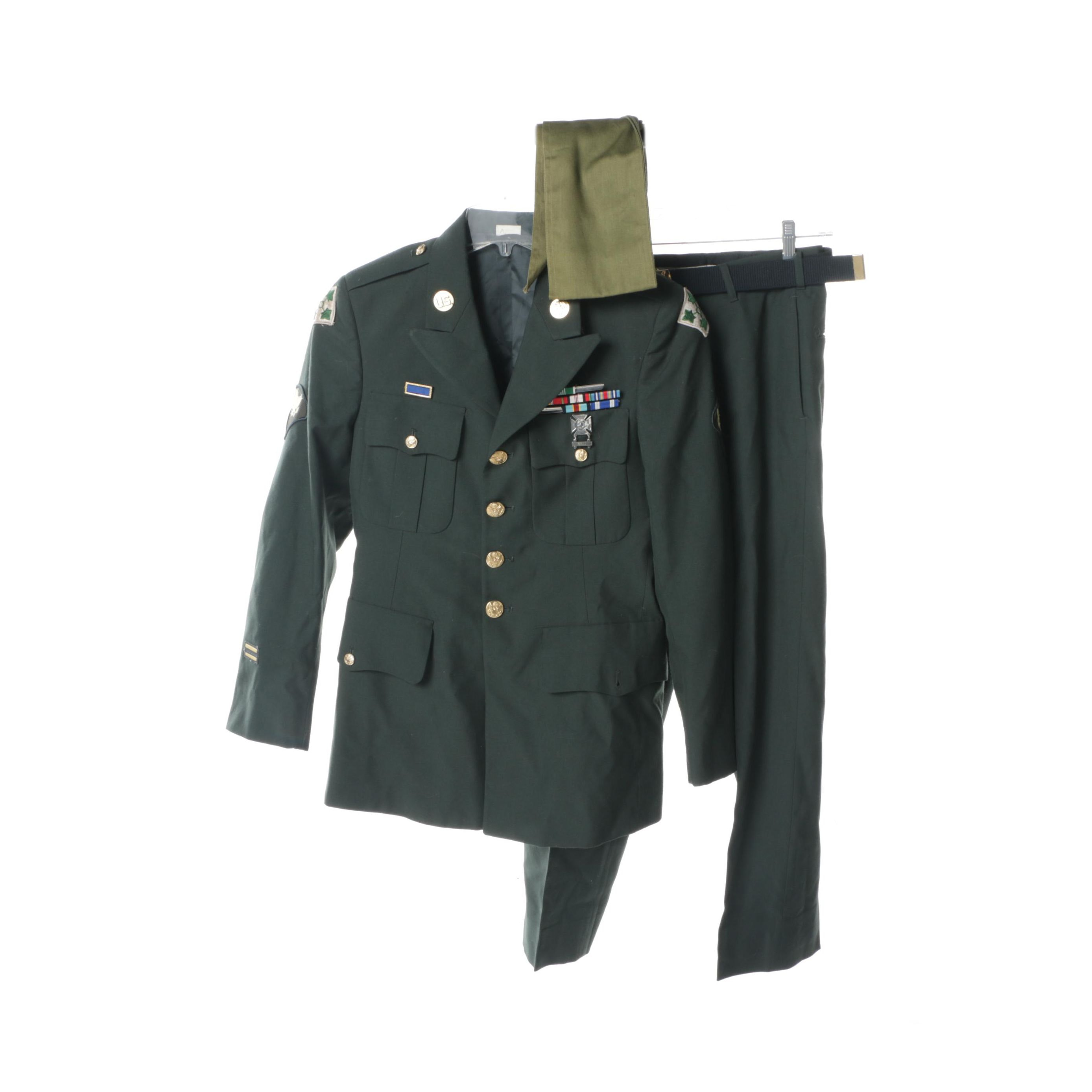U.S. Army Green Dress Uniform with Sash