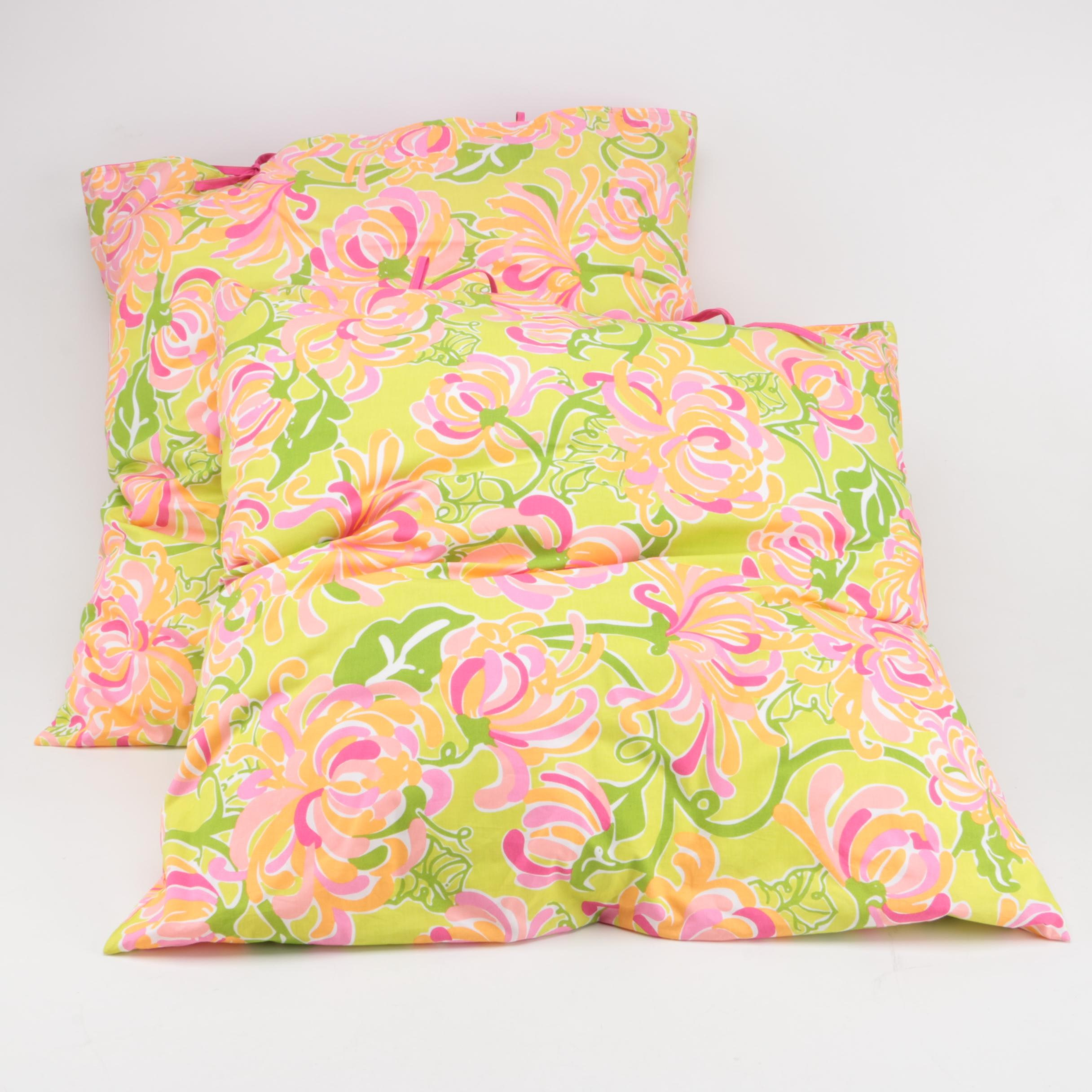 Colorful Floral Floor Pillows