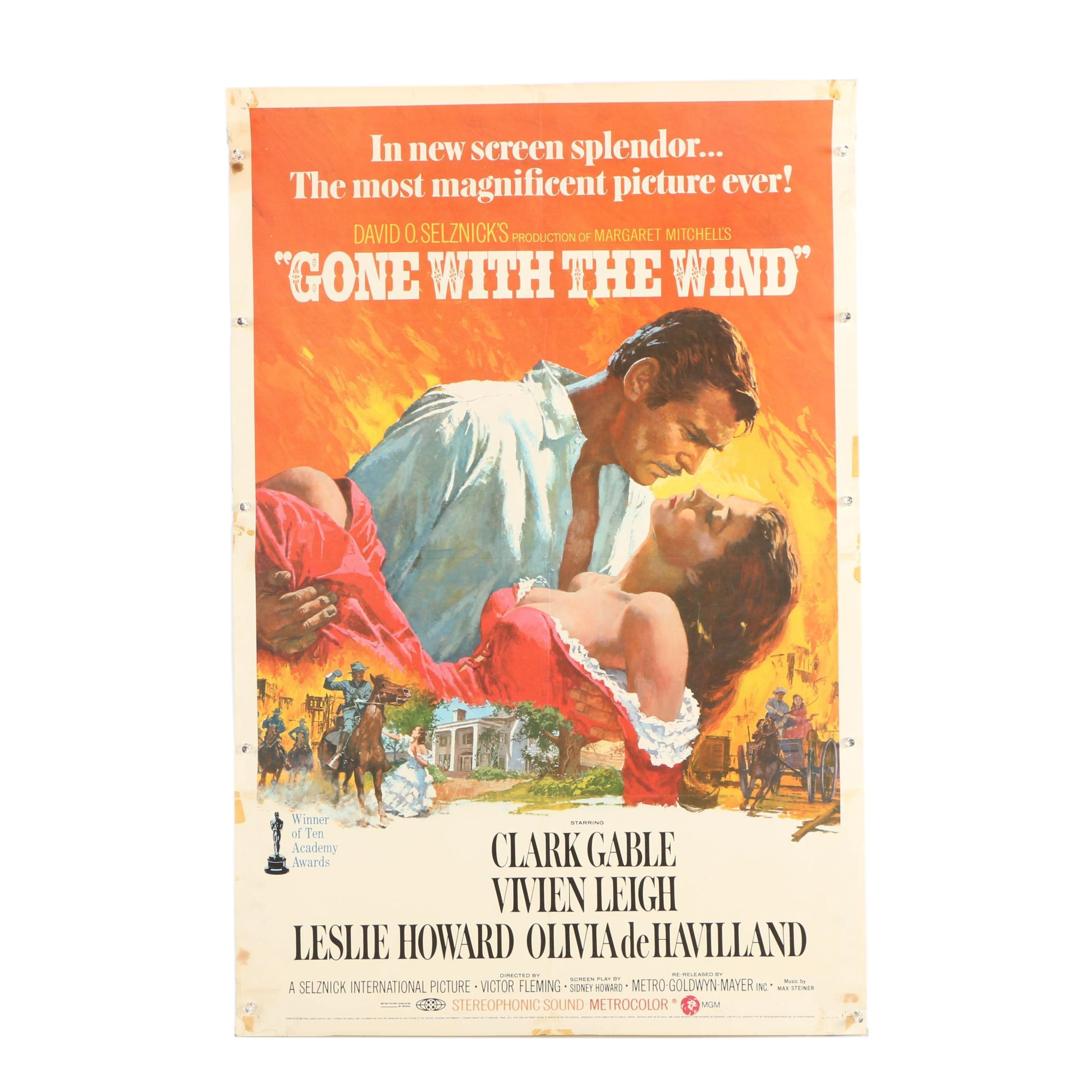 "Offset Lithograph Movie Poster ""Gone With The Wind"""