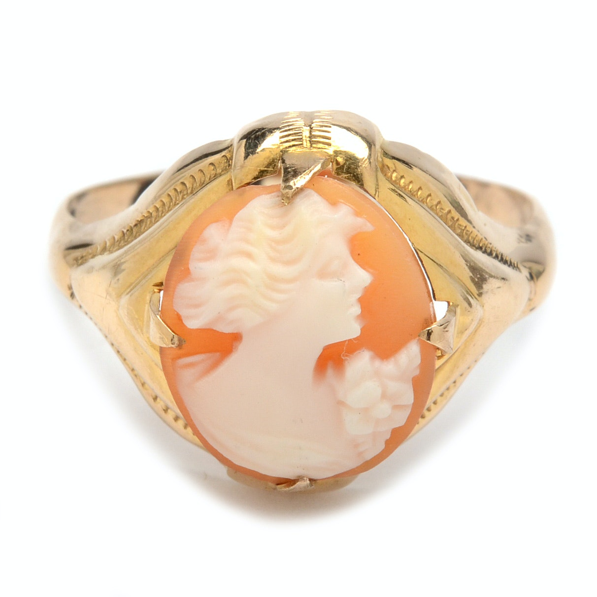 10K Rose Gold Cameo Ring