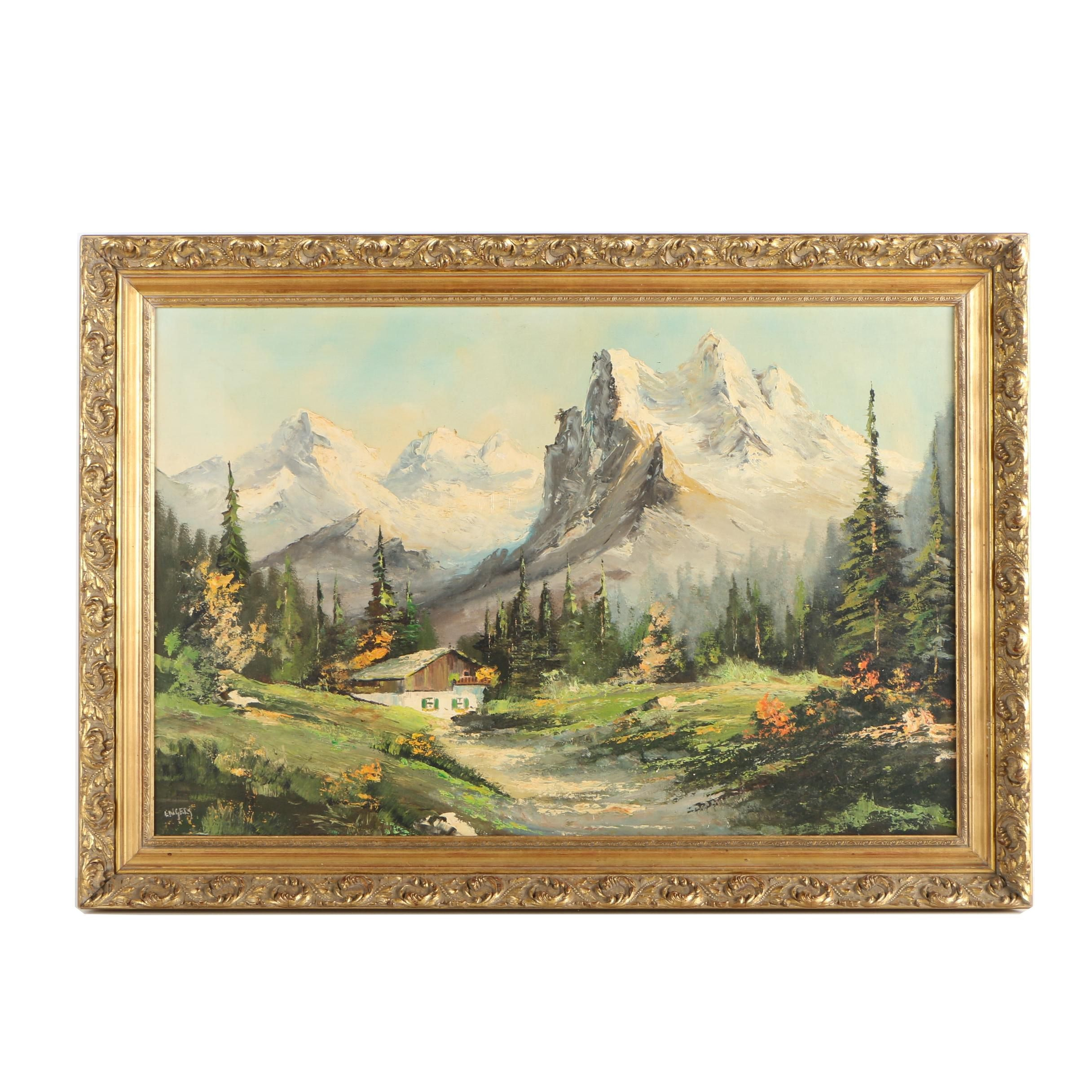 Engels Oil Painting of Landscape