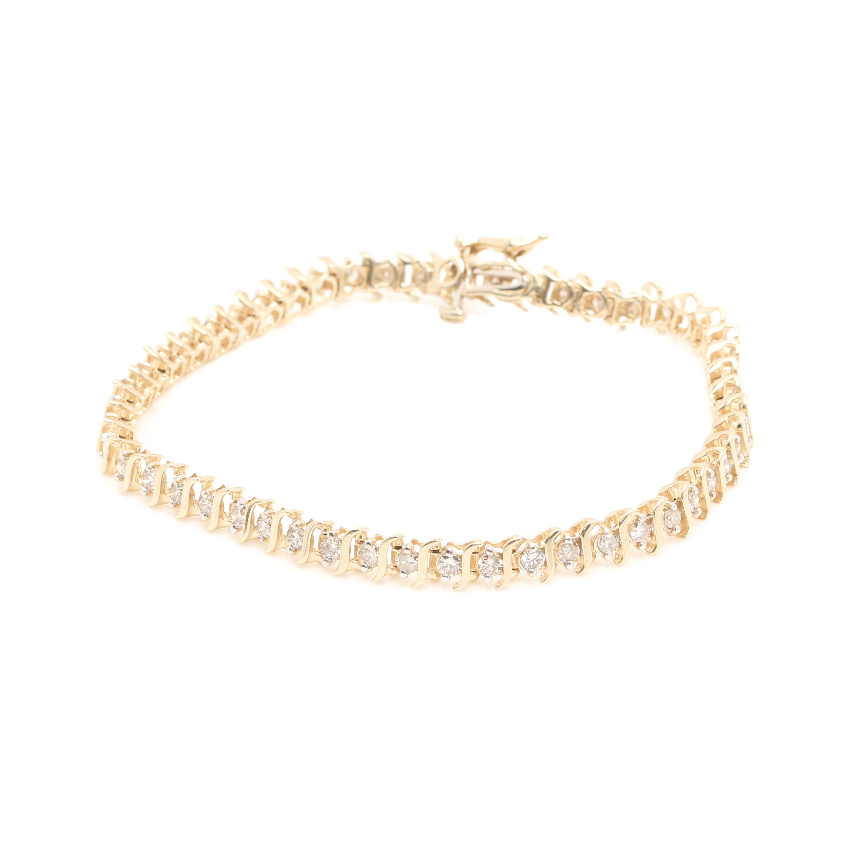 14K Yellow Gold 2.00 CTW Diamond Bracelet