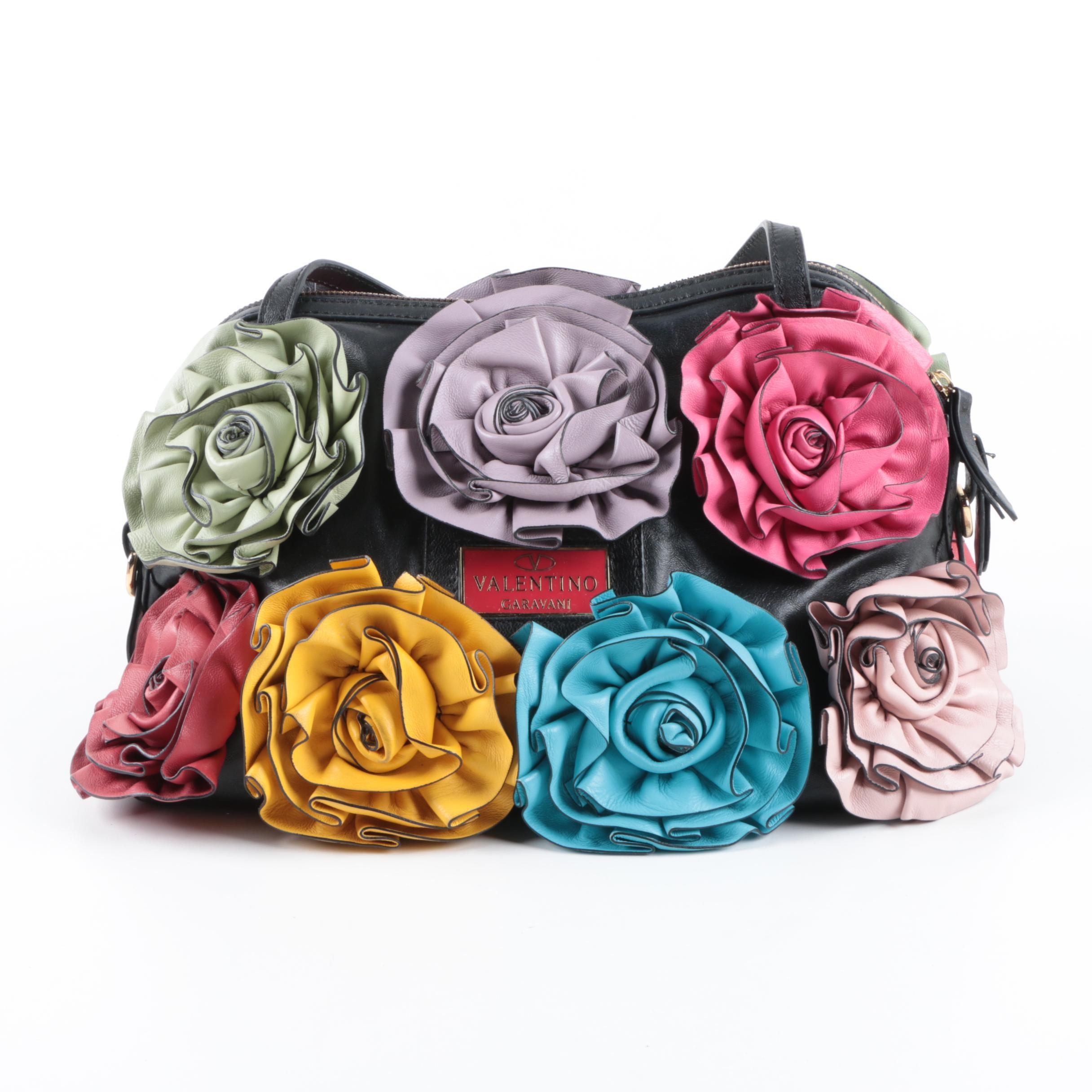 Valentino Leather Rosette Handbag