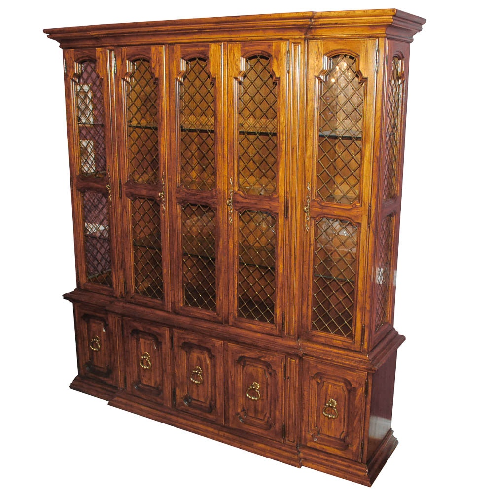 Pecan China Cabinet by Drexel Heritage