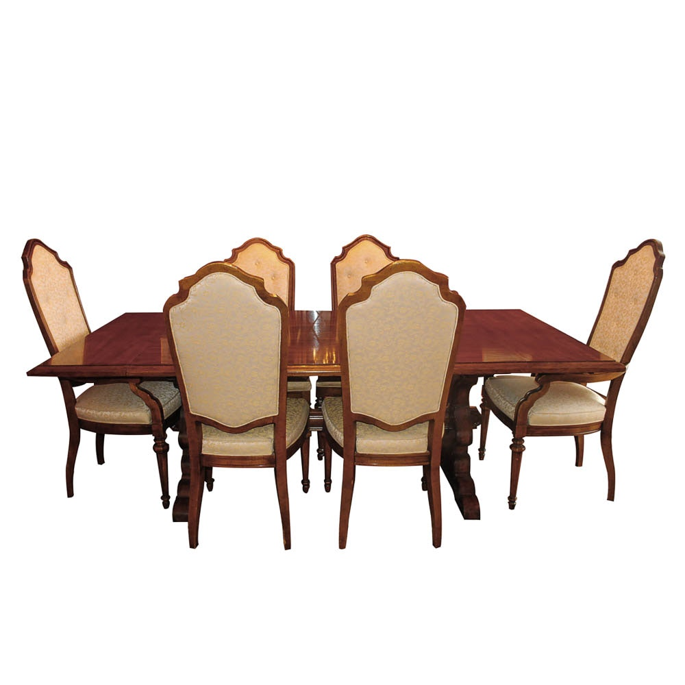 French Provincial Style Dining Table and Chairs by Drexel Heritage