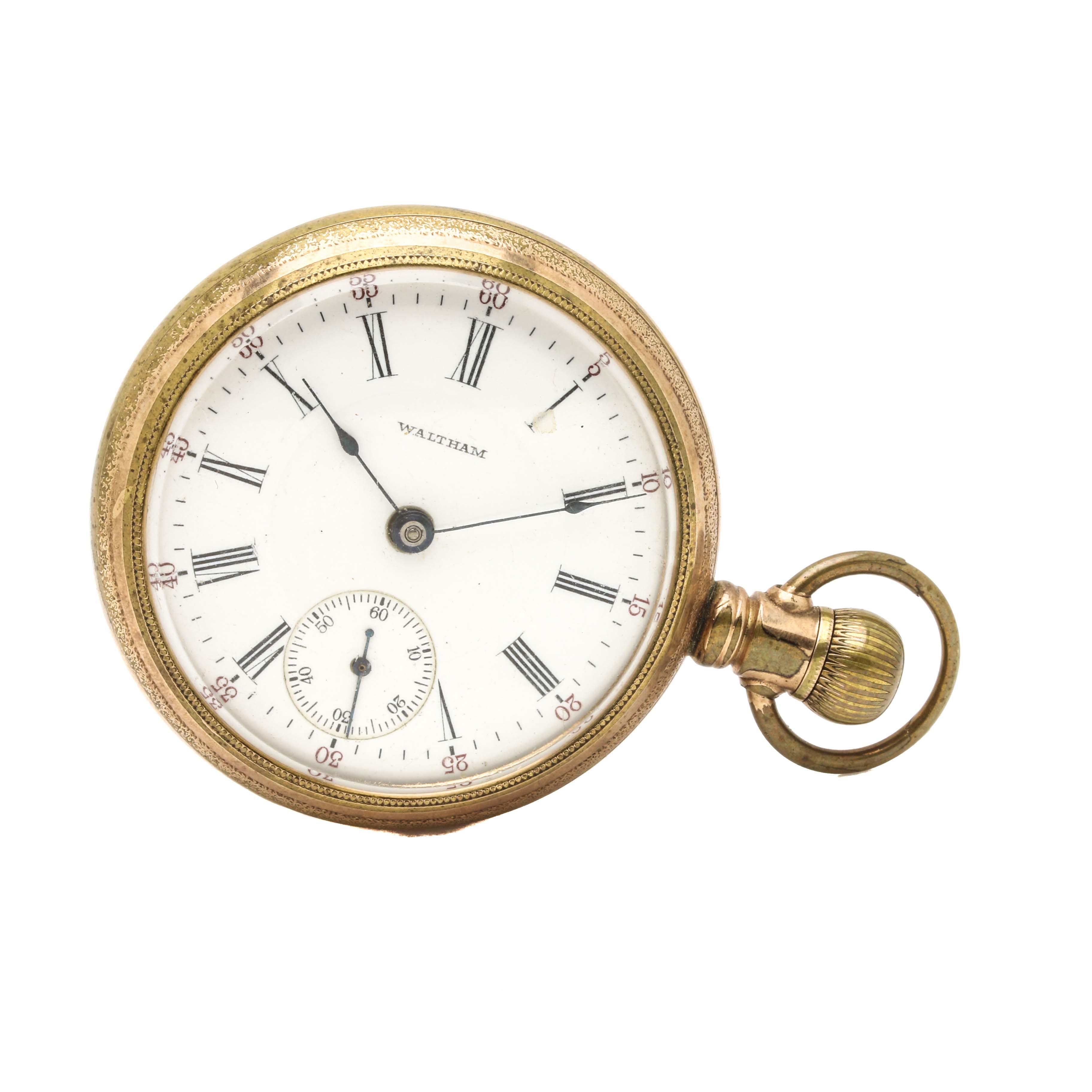 Circa 1907 Waltham Sidewinder Open-Face Pocket Watch