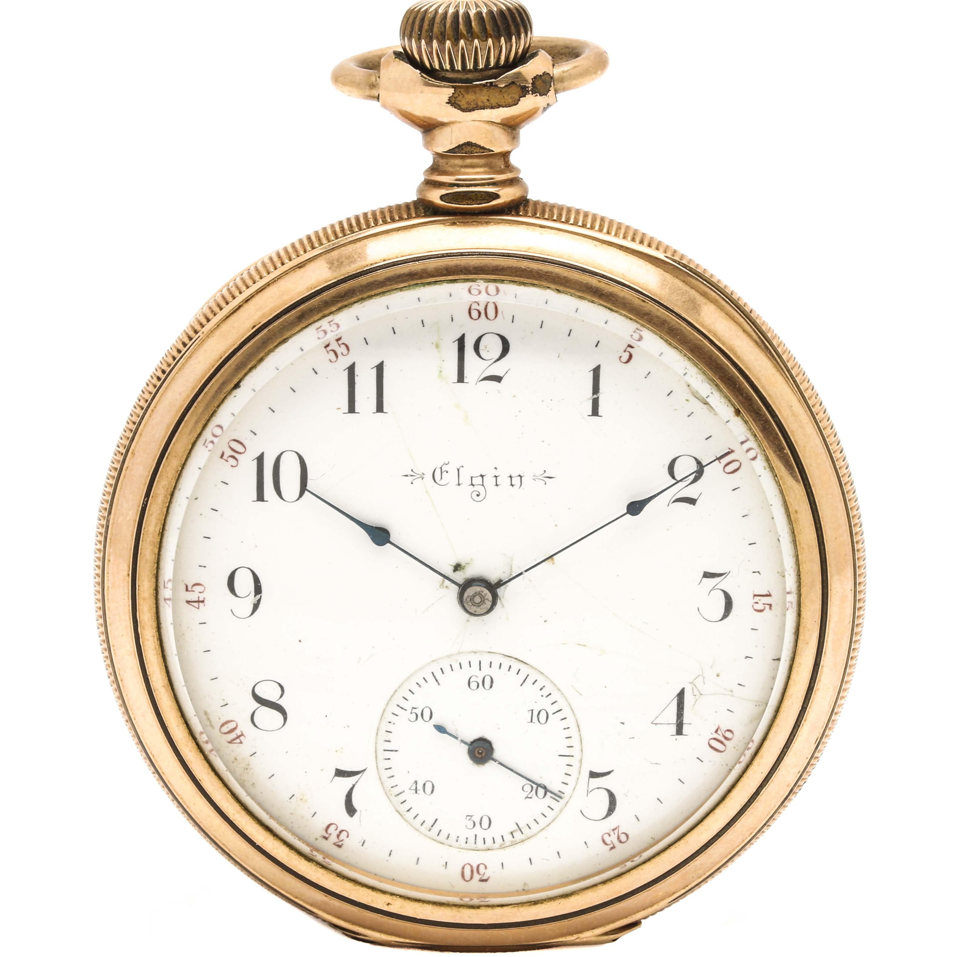 Antique Elgin Open Face Pocket Watch