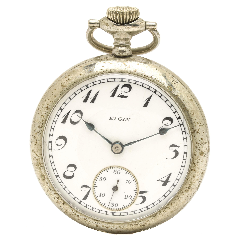 Circa 1911 Elgin Open Face Pocket Watch