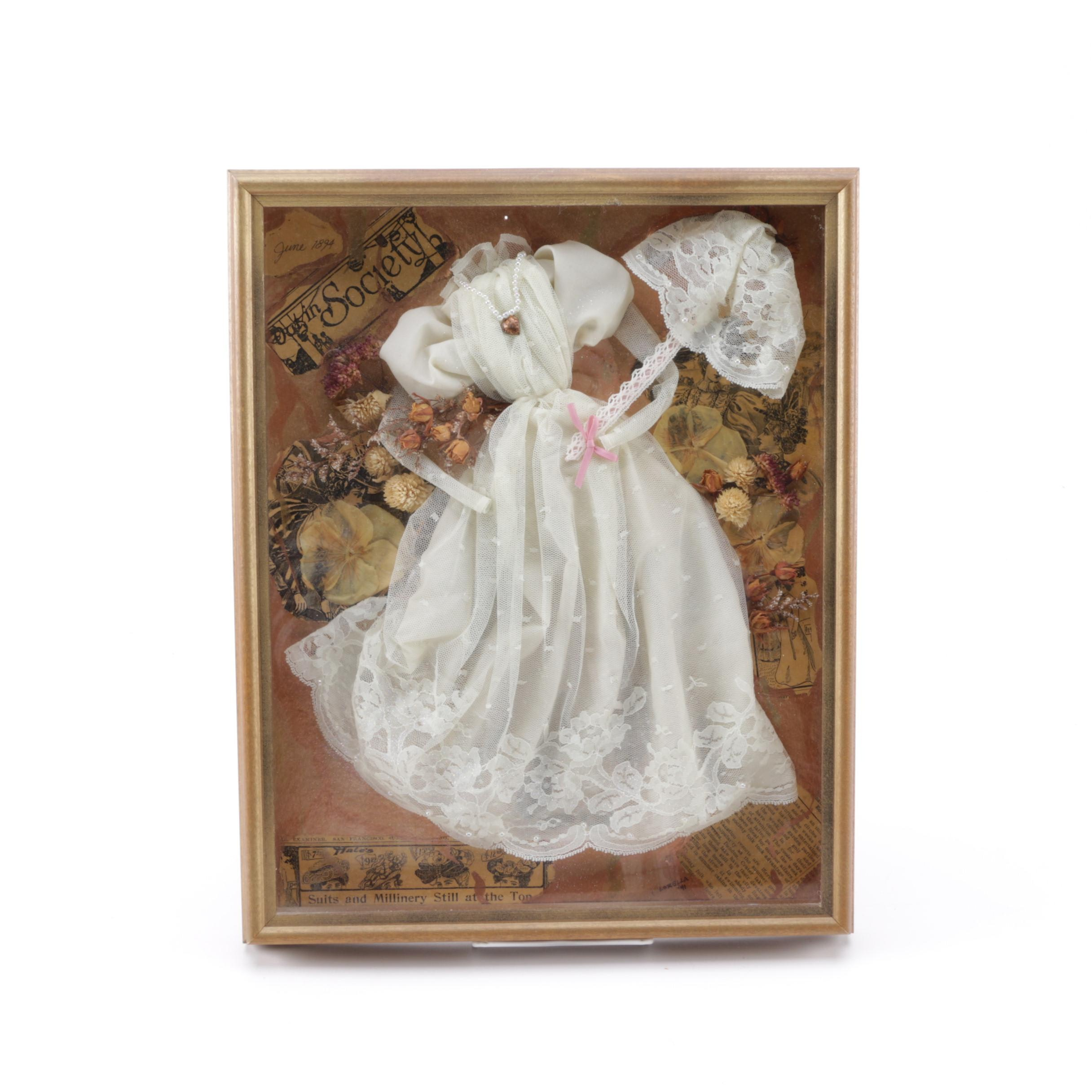 Shadowbox Framed Lorella Collections Miniature Victorian Clothing