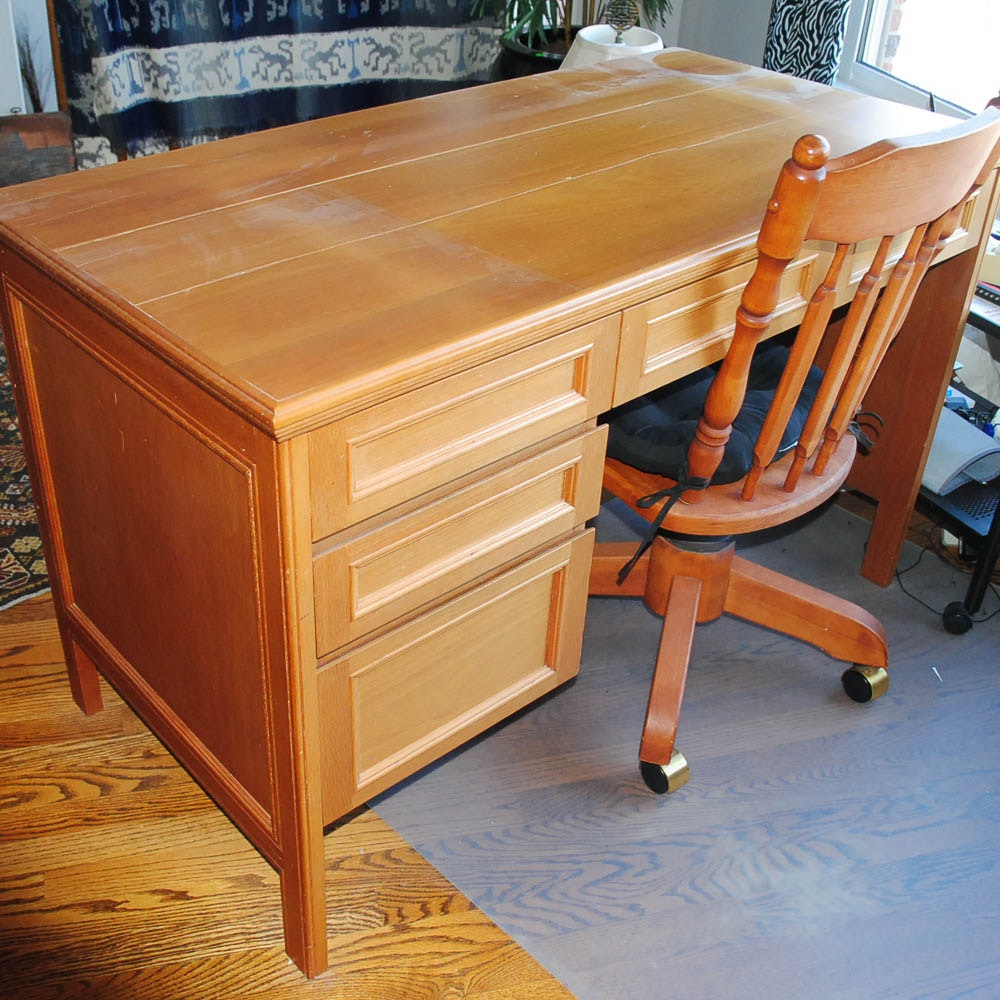 Desk and Maple Desk Chair