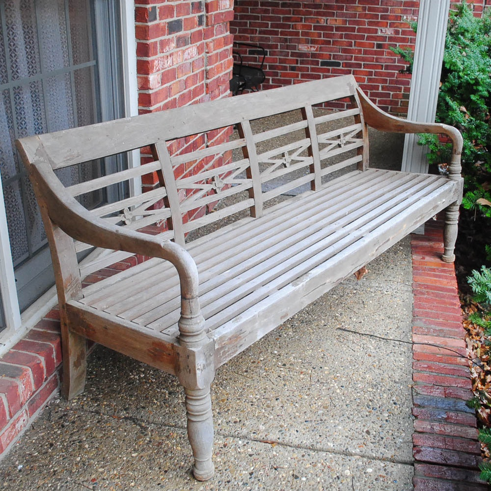 French Country Style Outdoor Bench