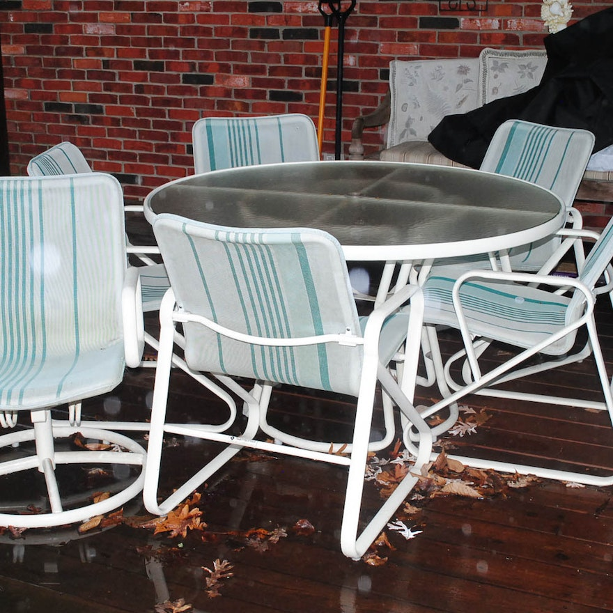 Samsonite Patio Dining Set ... - Samsonite Patio Dining Set : EBTH