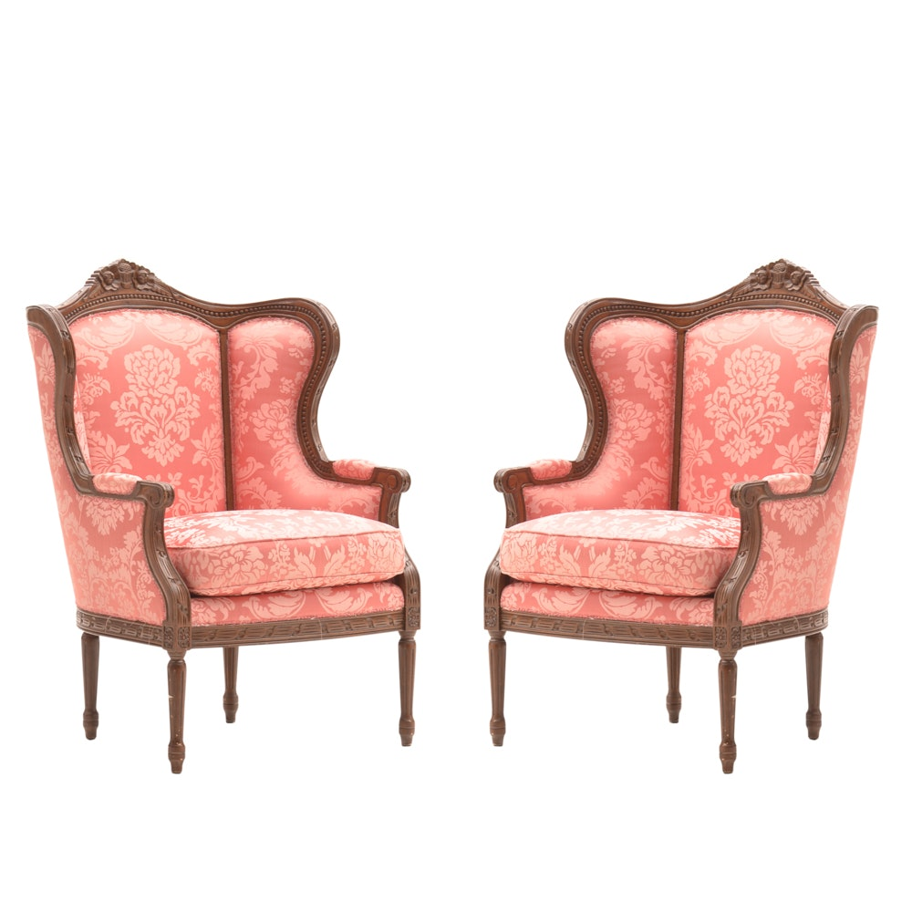 Pair of Furnitureland South French Country Style Arm Chairs