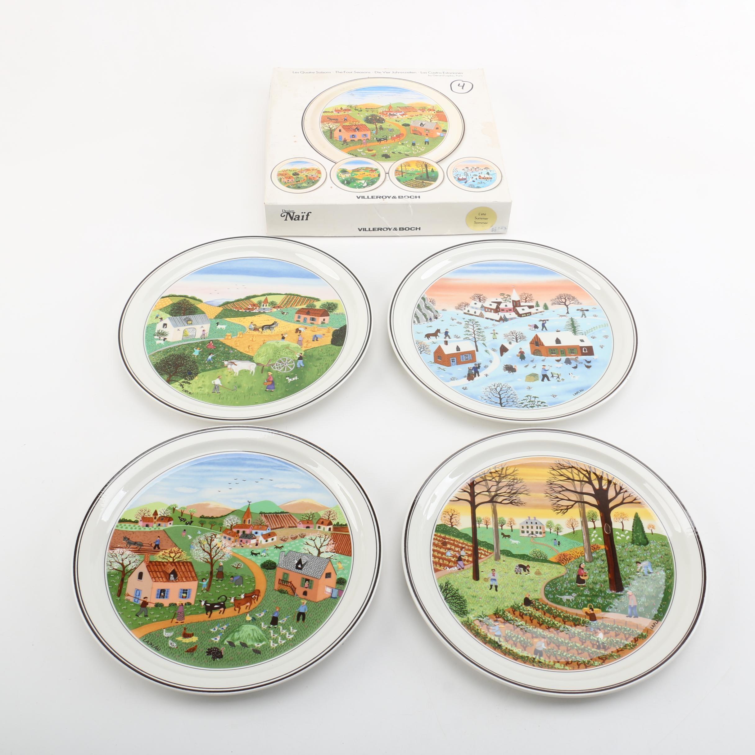 """Villeroy & Boch """"The Four Seasons"""" Gérard Laplau Decorative Plates"""