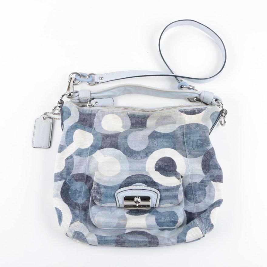 e15ba910523 Coach Op Art Denim Canvas Shoulder Bag : EBTH