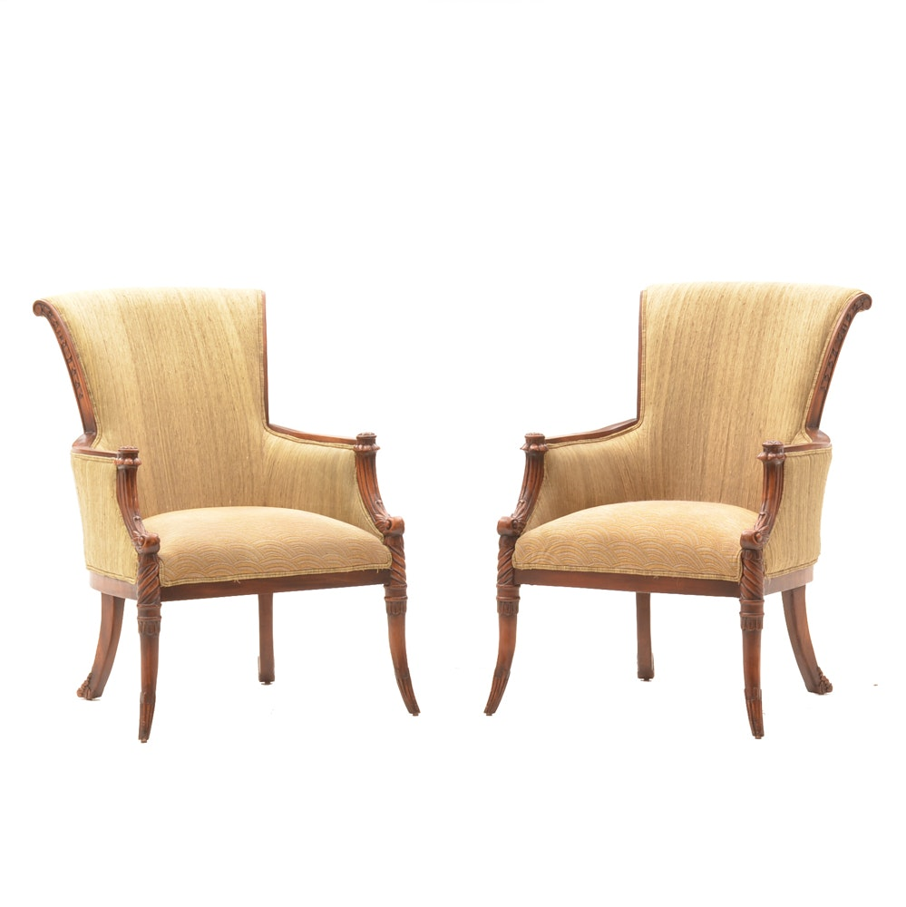 Pair of John Richard Empire Style Armchairs