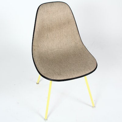 Vintage Eames Oatmeal and Yellow Side Chair by Herman Miller