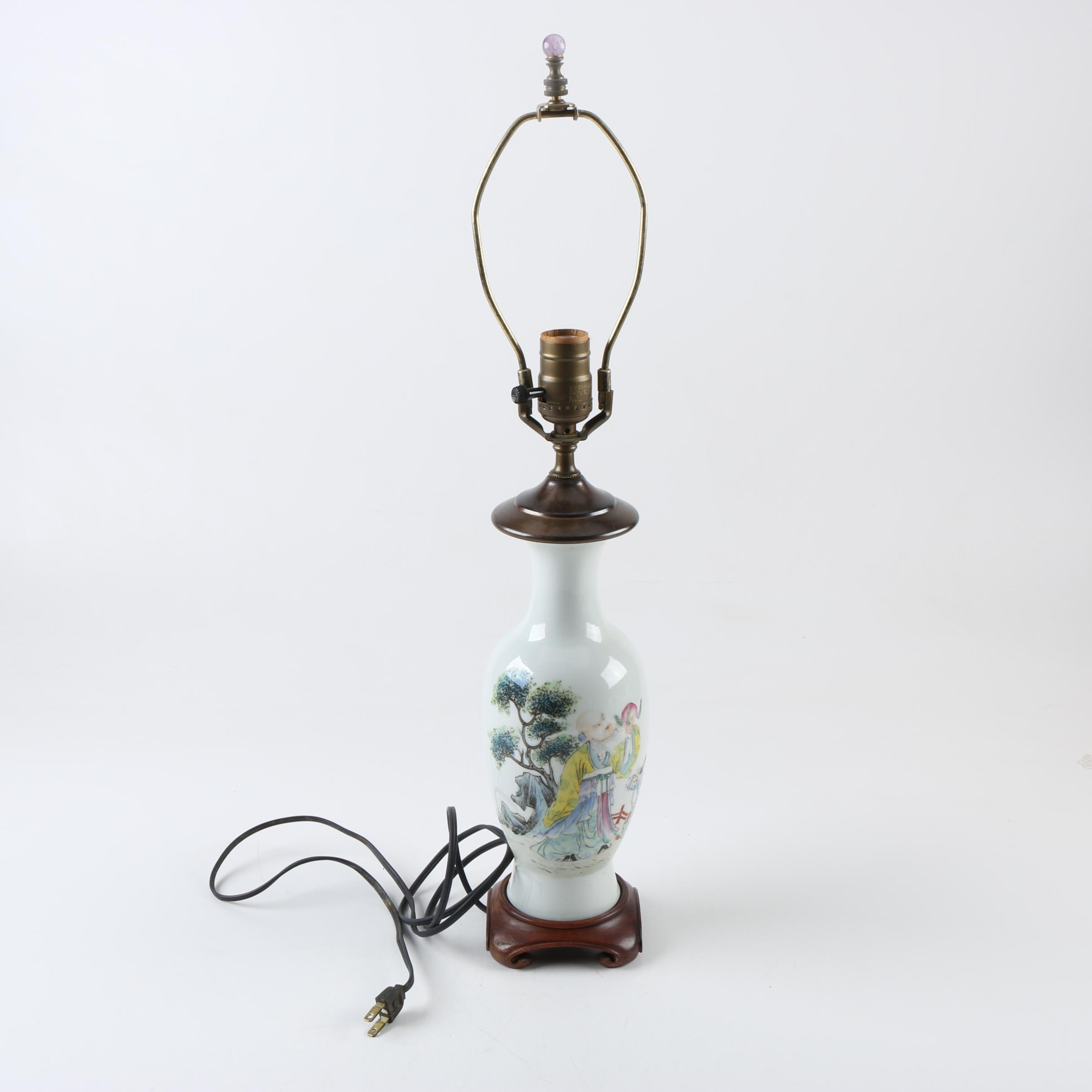 Chinese Ceramic Table Lamp