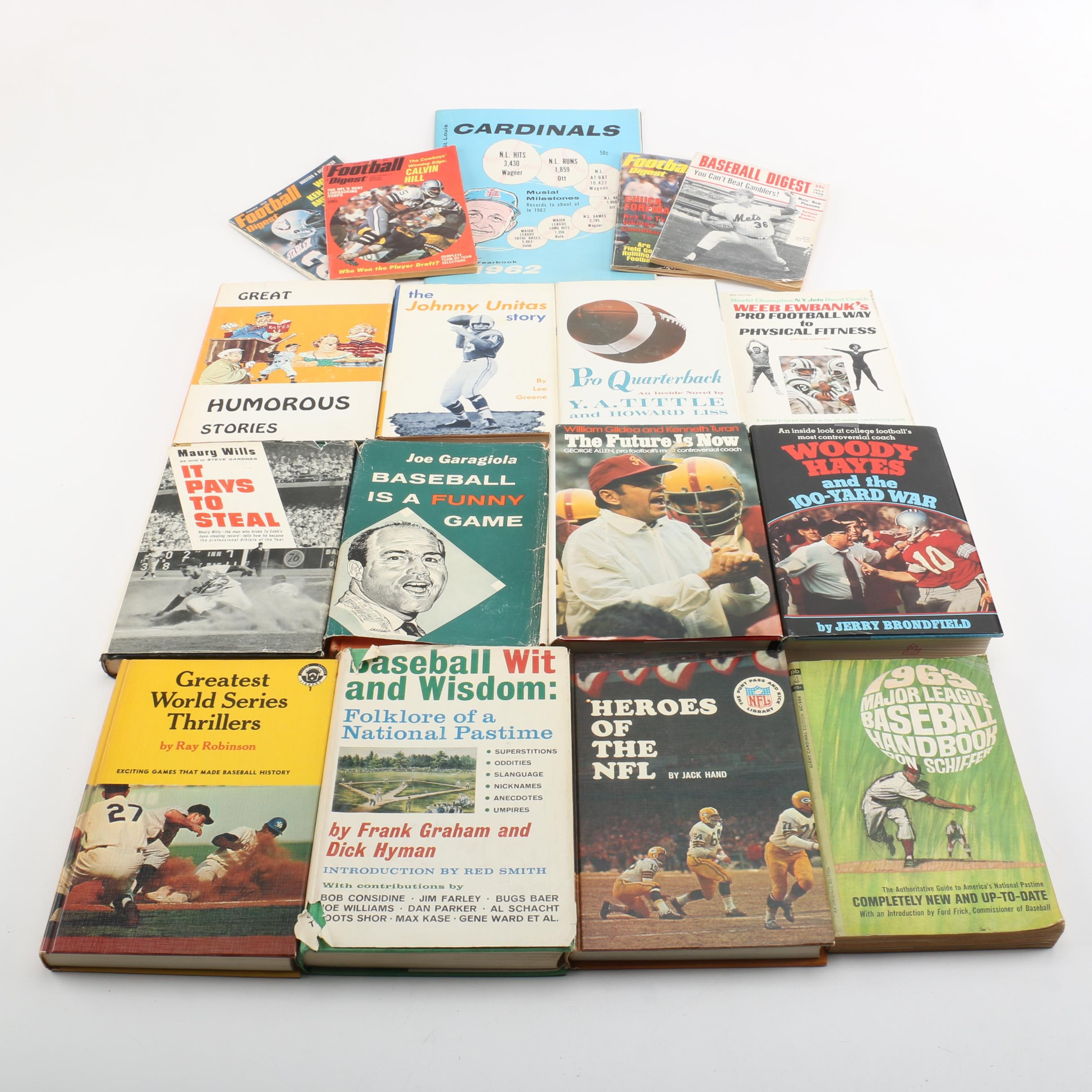 """Assorted Books on Sports Including 1960 """"Baseball is a Funny Game"""""""