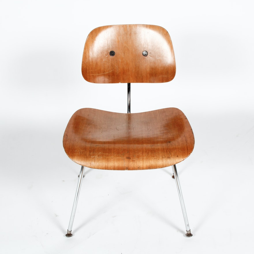 Vintage Mid Century Modern Eames DCM Side Chair by Herman Miller